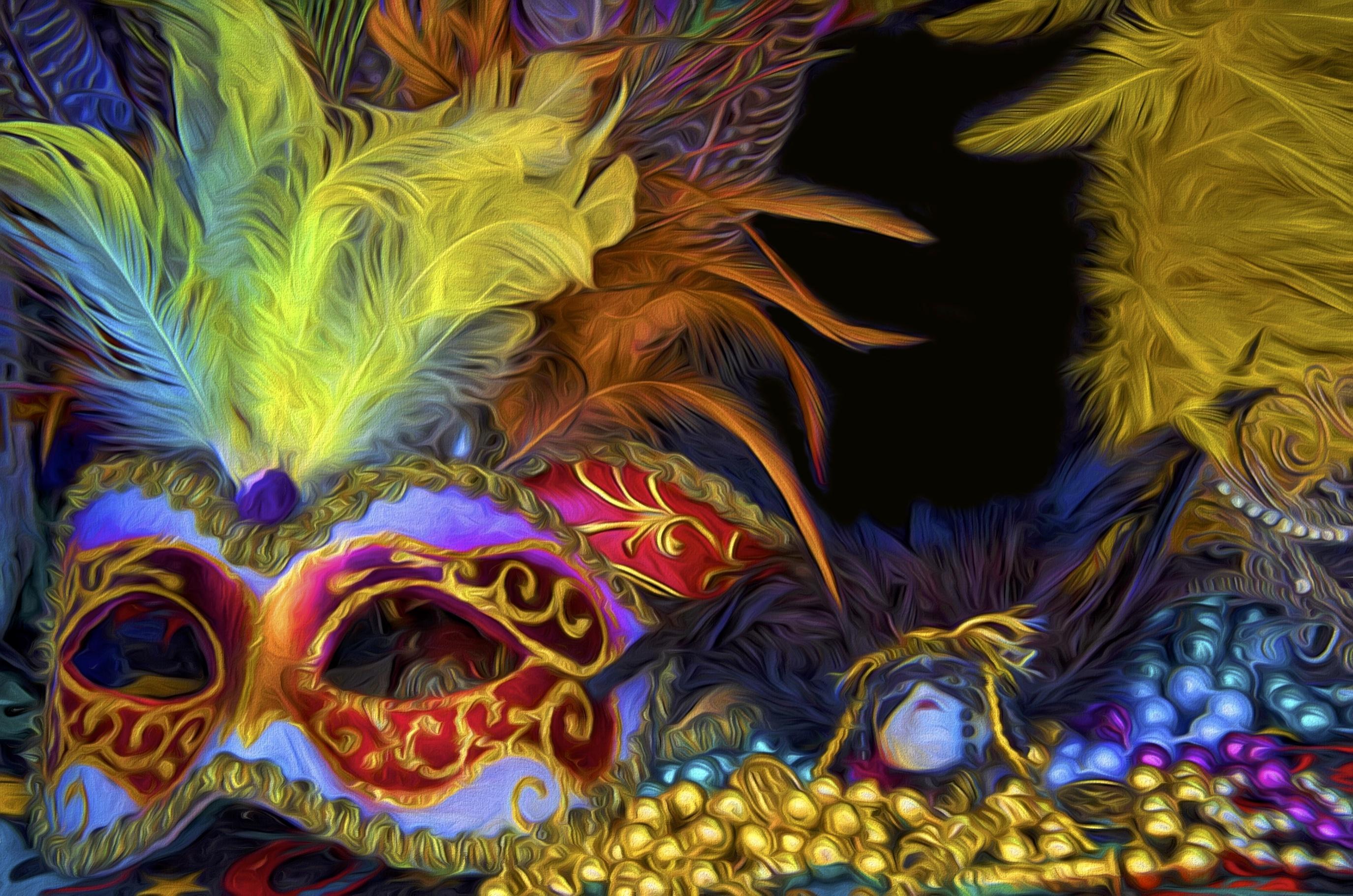 wallpaper mask costumes louisiana carnival art color vibrant