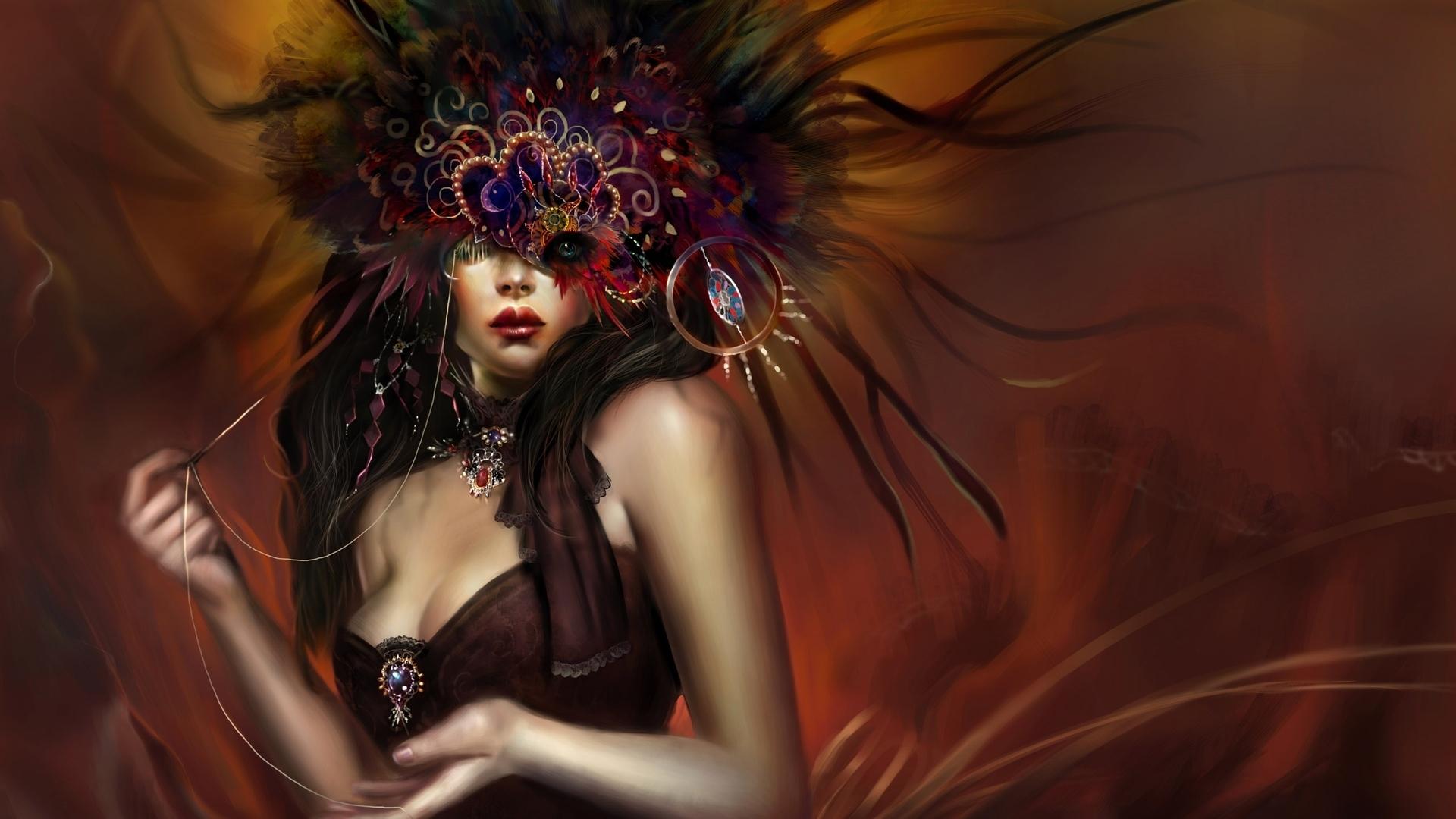 Красивые картинки мистических девушек
