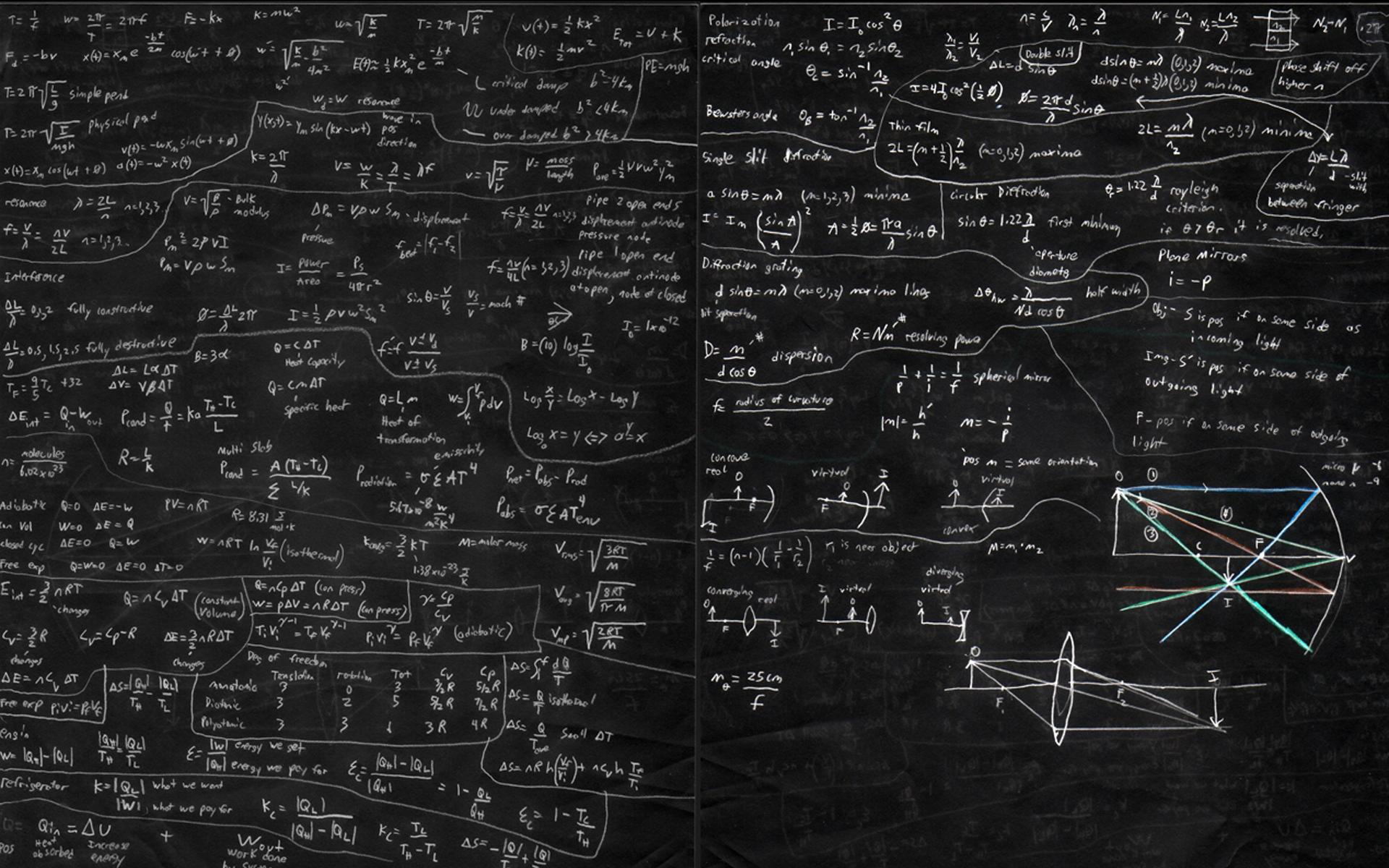 Обои на телефон формулы по физике