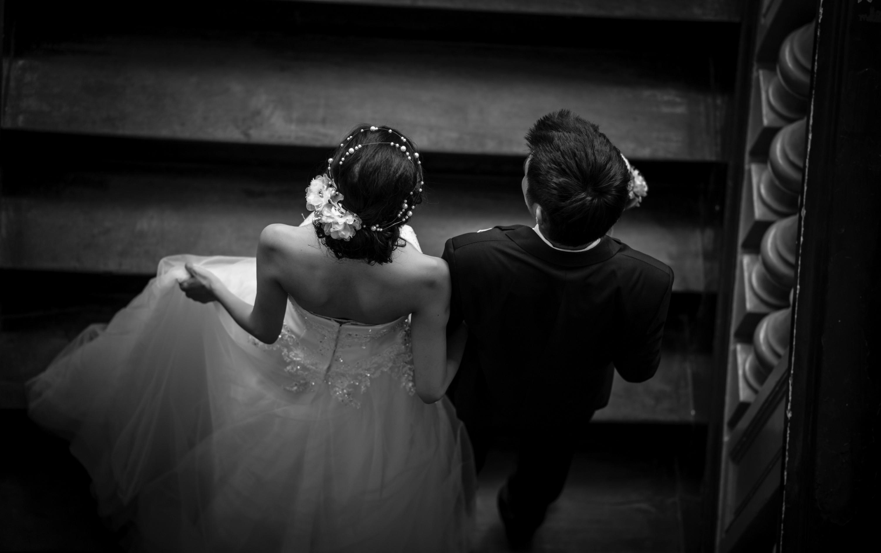 Kvinder Herrer Baggrunde Bryllupper Bryllup Brud Kjole Par 4OnqwU1a