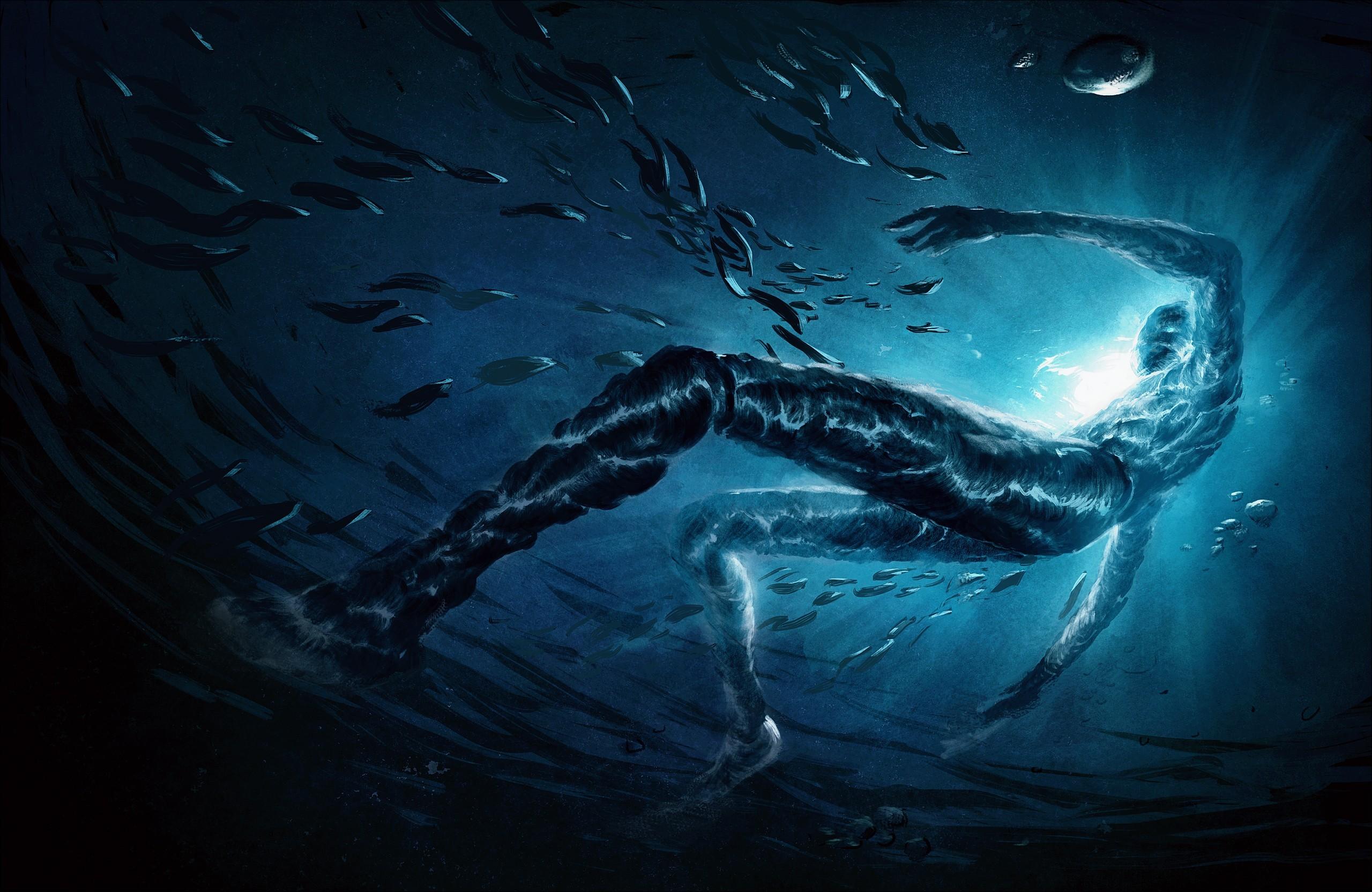 Wallpaper Men Fantasy Art Water Underwater Ghost Ship
