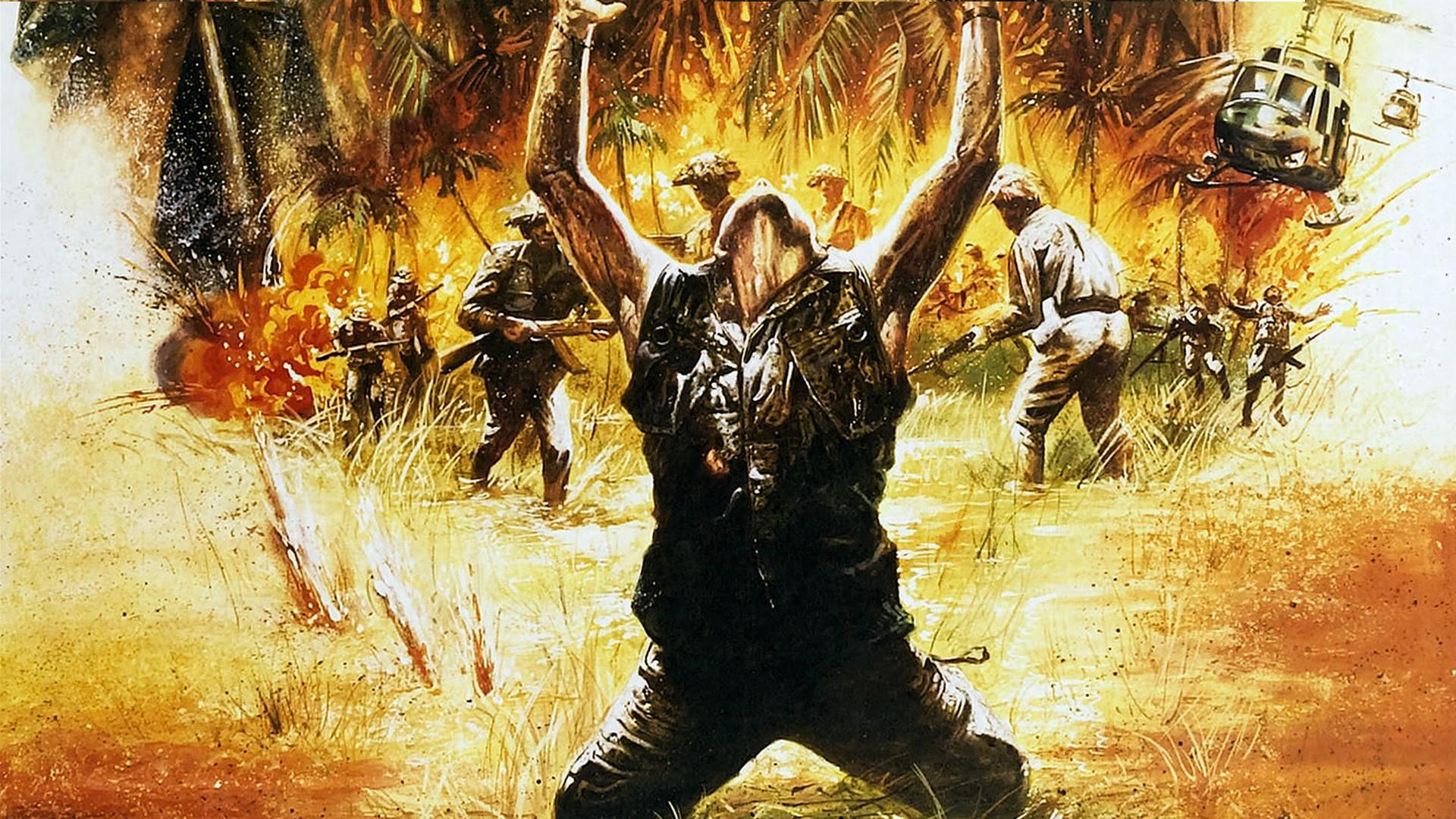 Masaüstü Erkekler Boyama Savaş Asker Platoon Sanat Ağaç