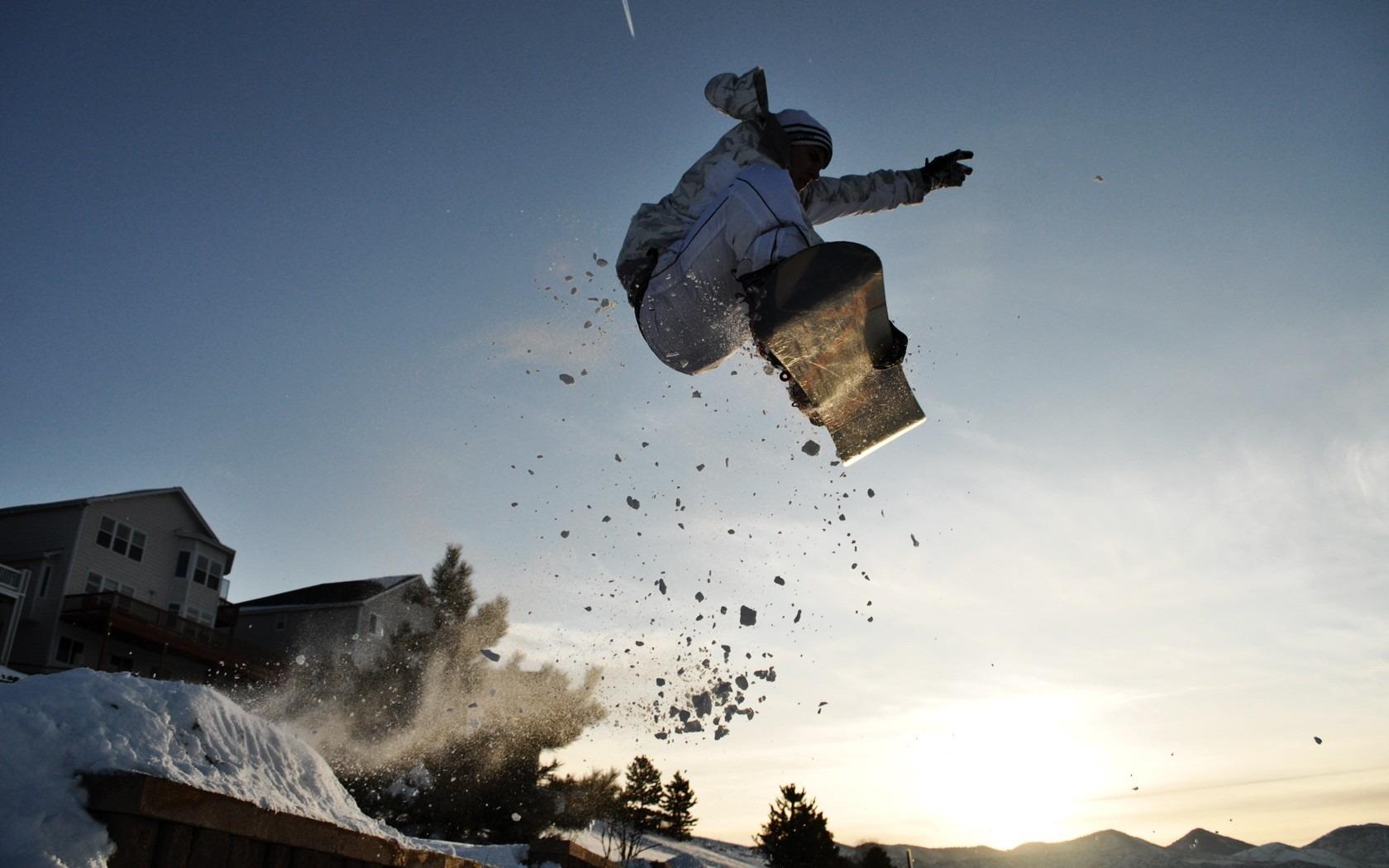 Wallpaper Men Jumping Snowboarding Snowboard