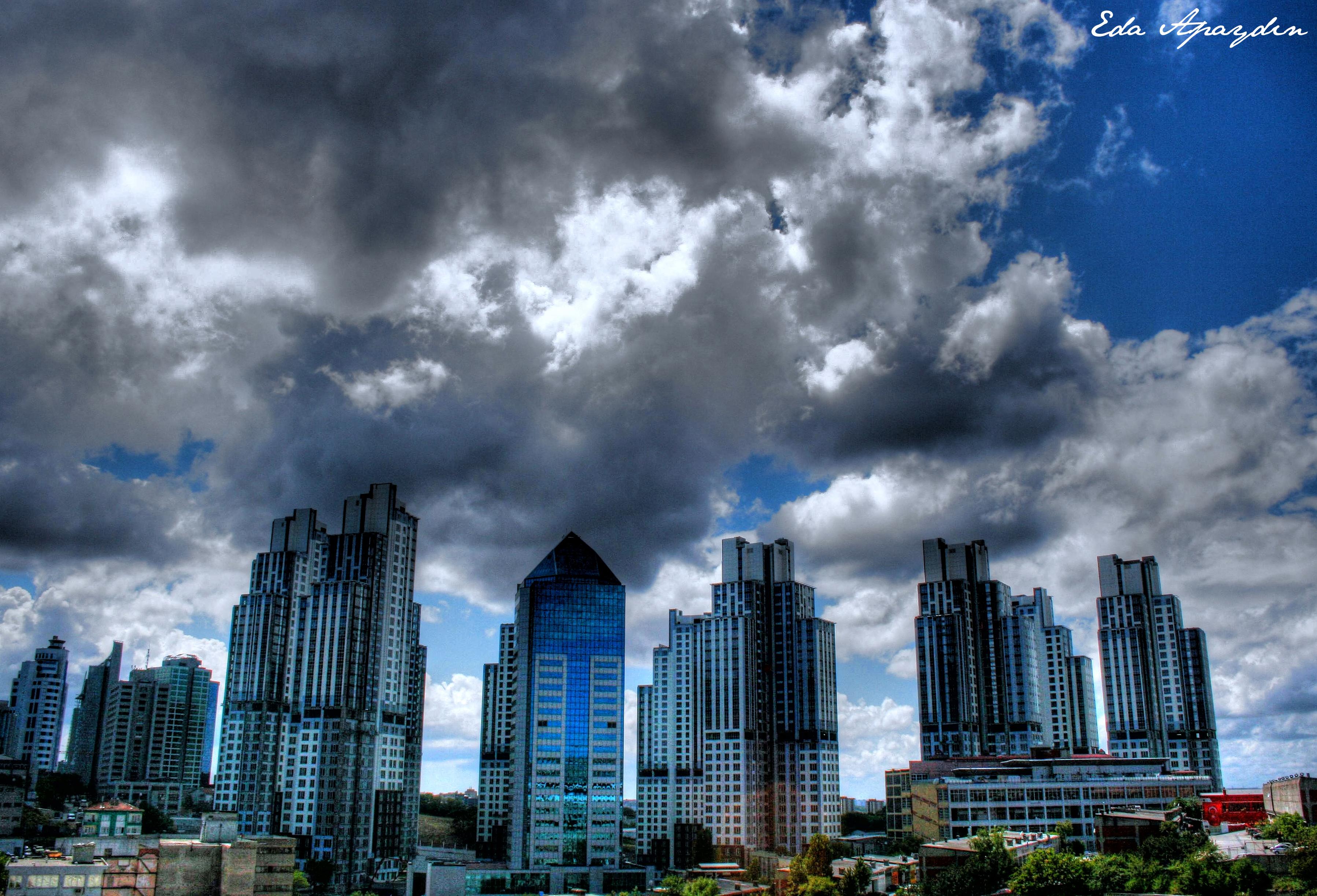 Обои обои, Облака, здания, городской пейзаж. Города foto 18
