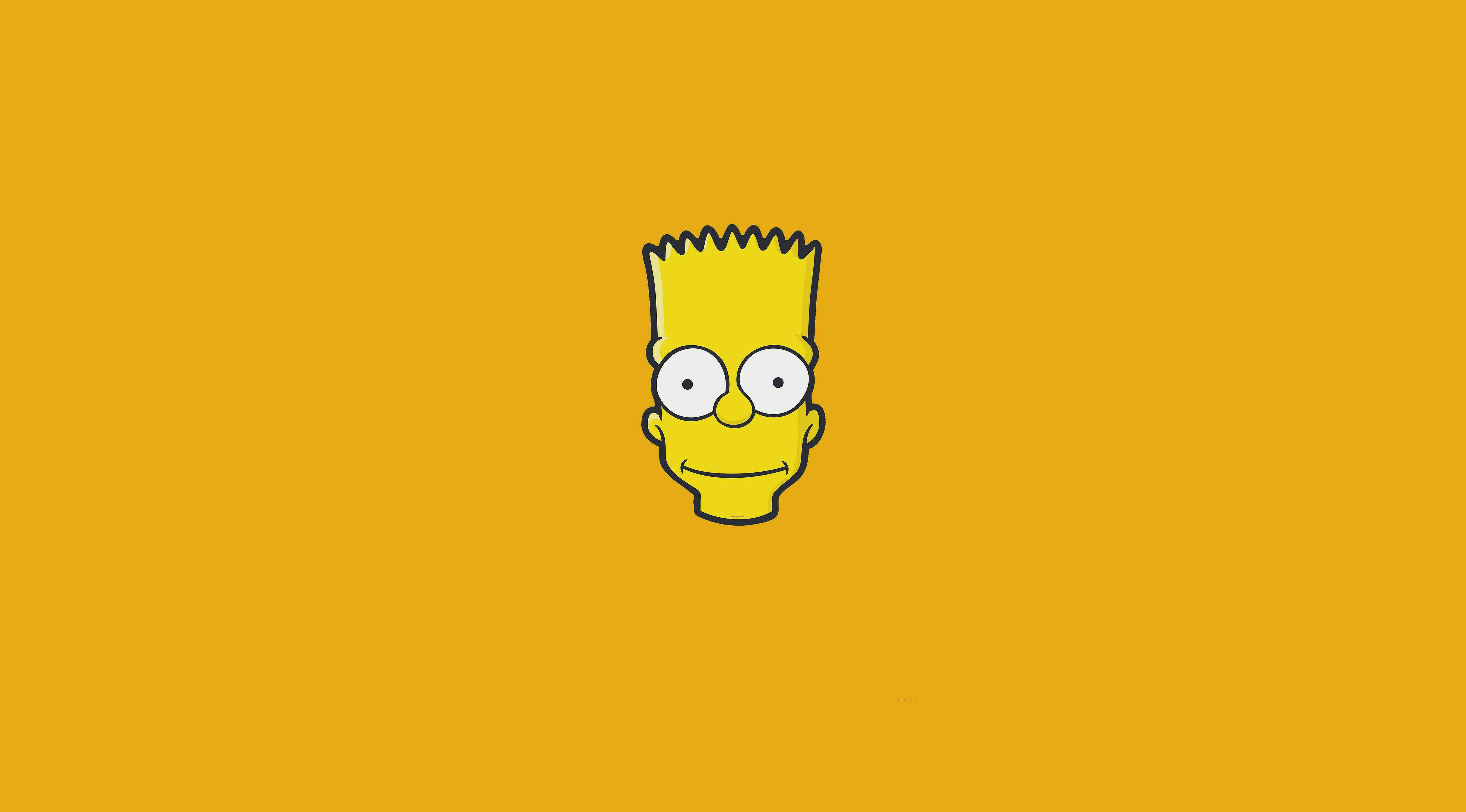 Wallpaper : minimalism, Bart Simpson