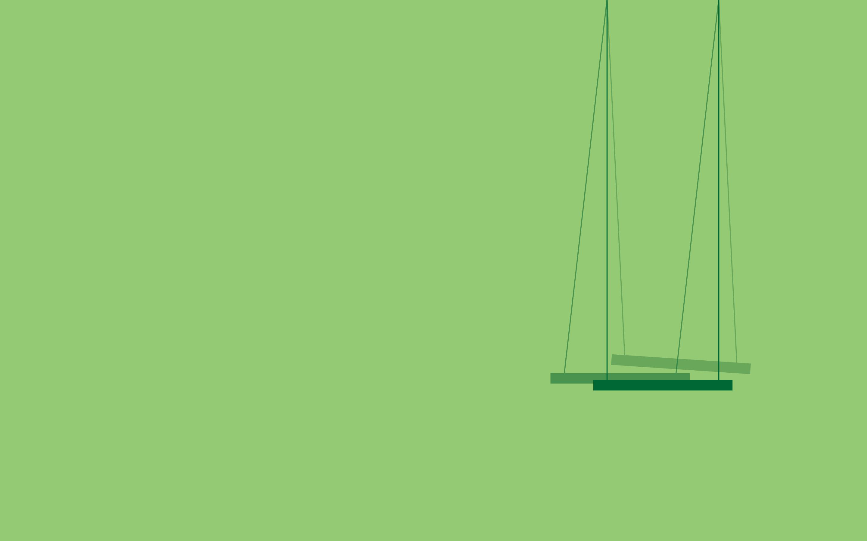 Wallpaper : minimalism, green, simple background, swings ...