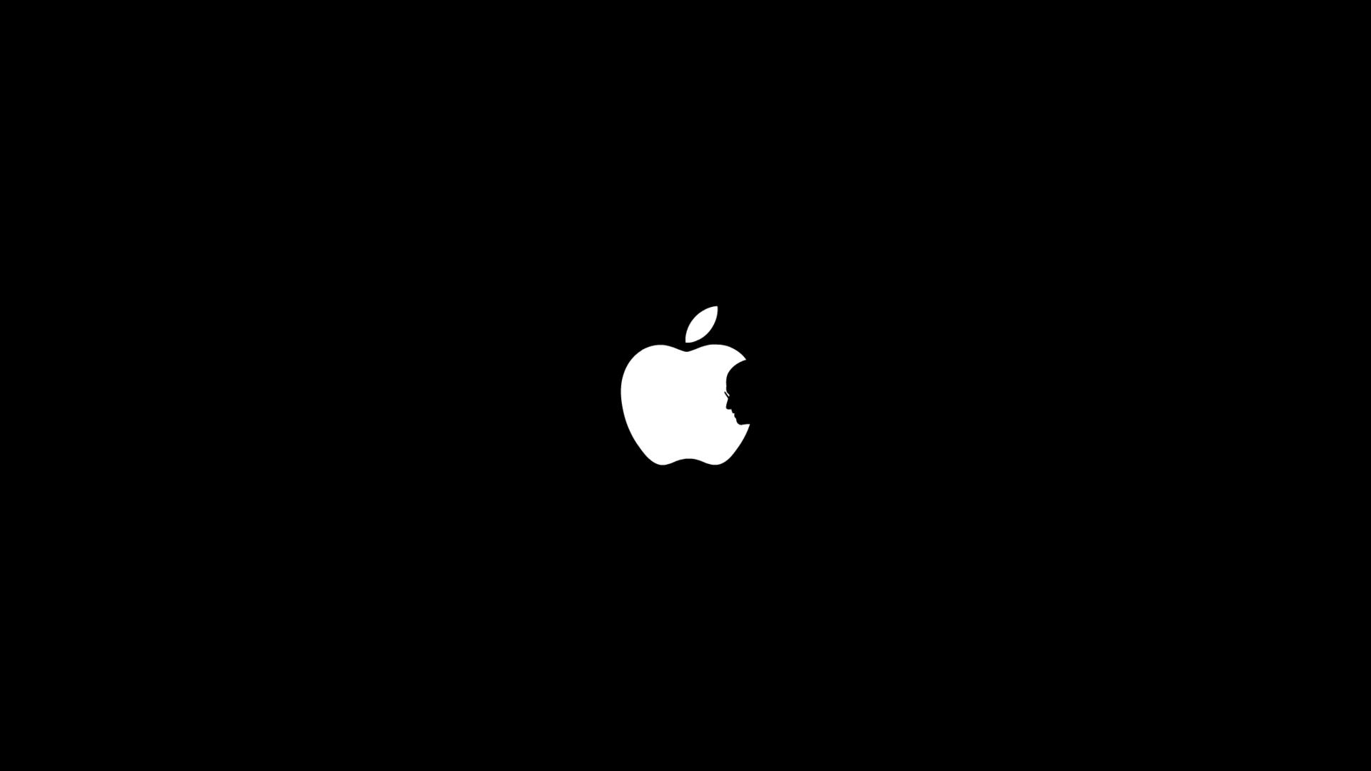 Fondos De Pantalla Minimalismo Logo Apple Inc Oscuridad
