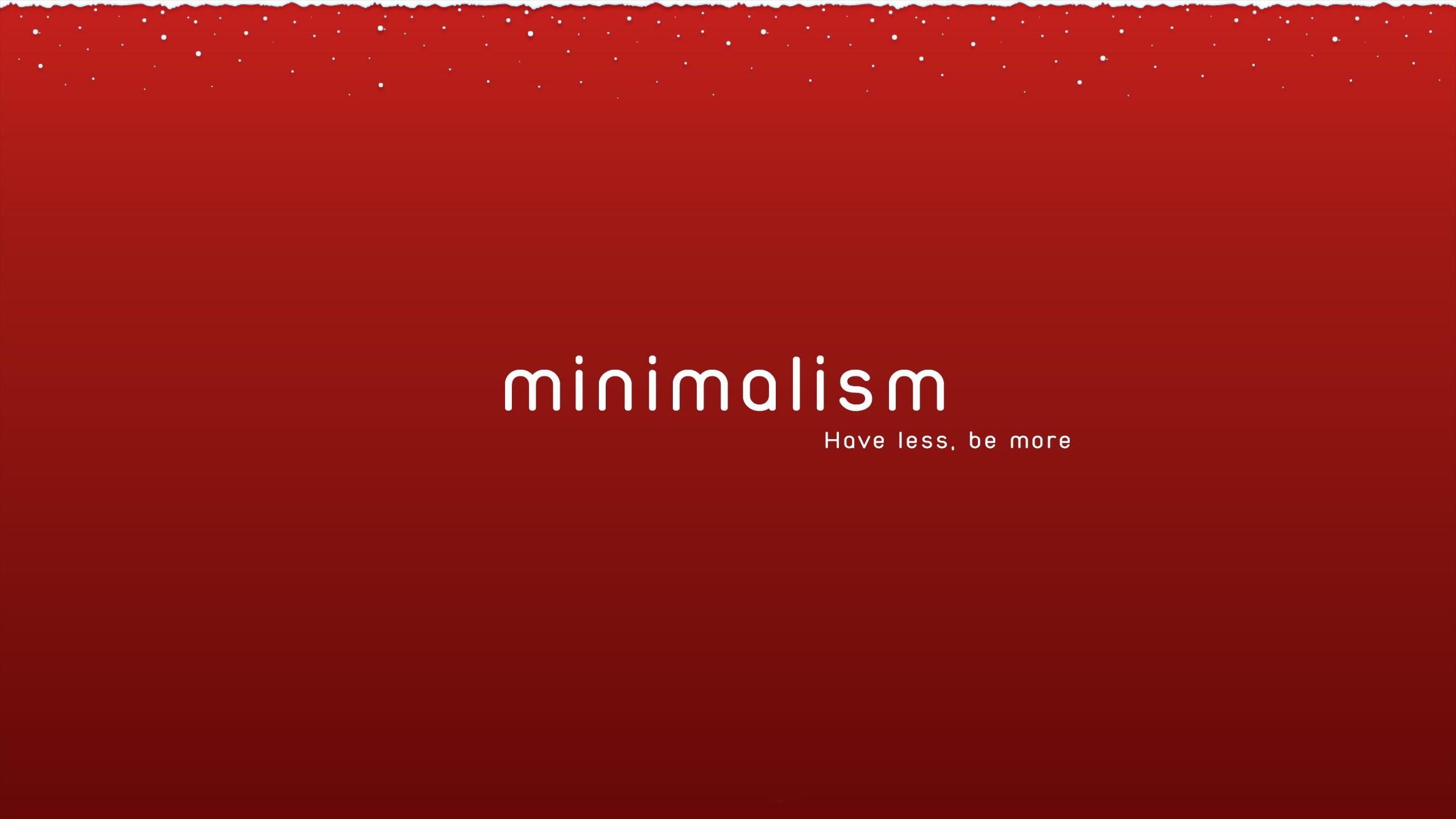 Fond Décran Minimalisme Rouge Neige Hiver Texte Noël