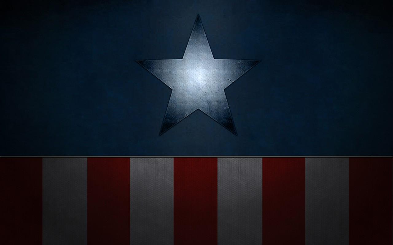 Papel De Parede Do Capitao America: Papel De Parede : Minimalismo, Simetria, Capitão América