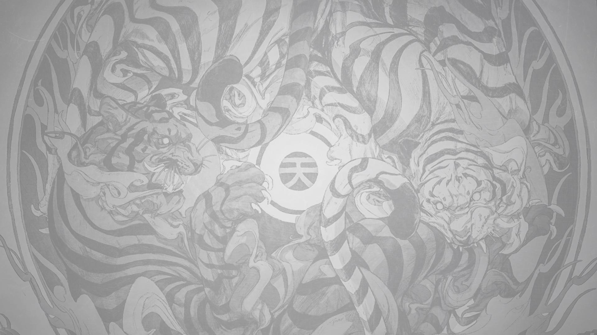 minimalism tattoo tiger animal print roux illustration fan art drawn texture backgound Japan