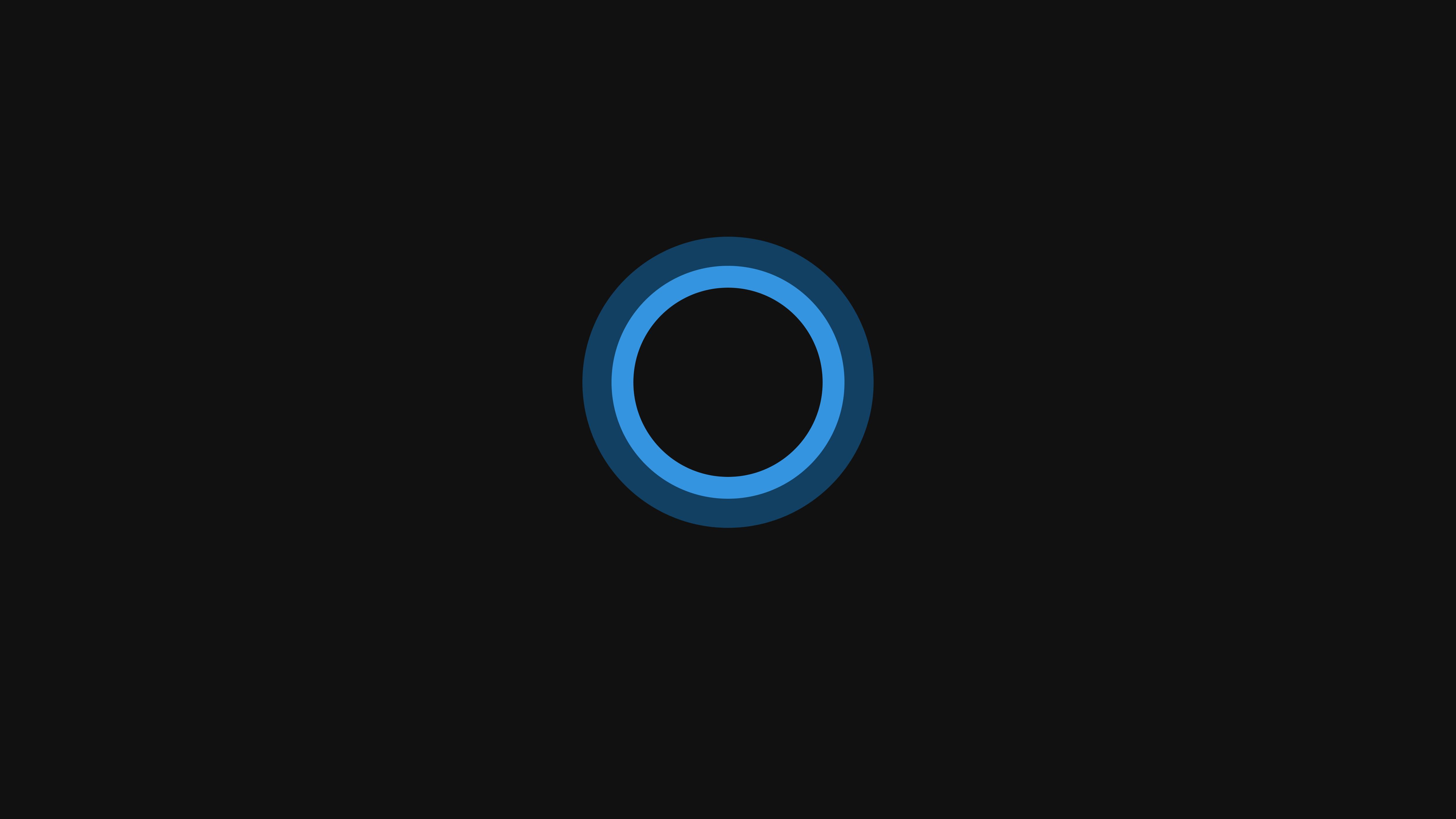 Wallpaper Minimalism Text Logo Circle Windows 10