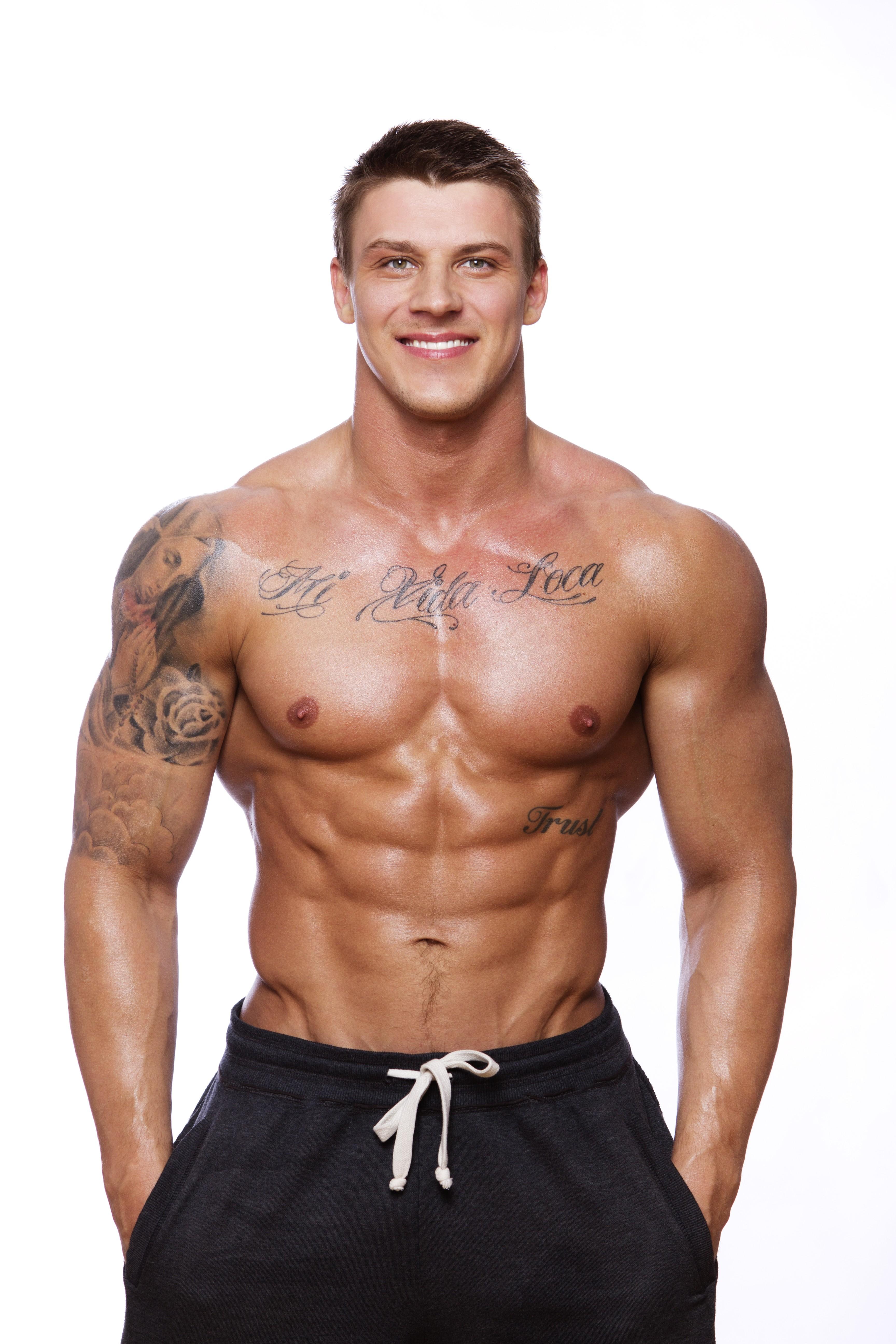 Wallpaper Model Bodybuilder Standing Shirtless Bodybuilding