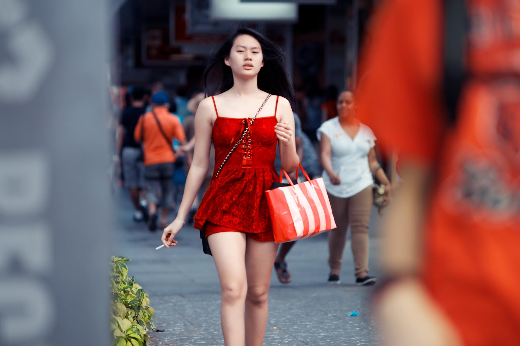 Wallpaper  Singapore, Red, Smoke, Smoking, Dress, Nikon -6411