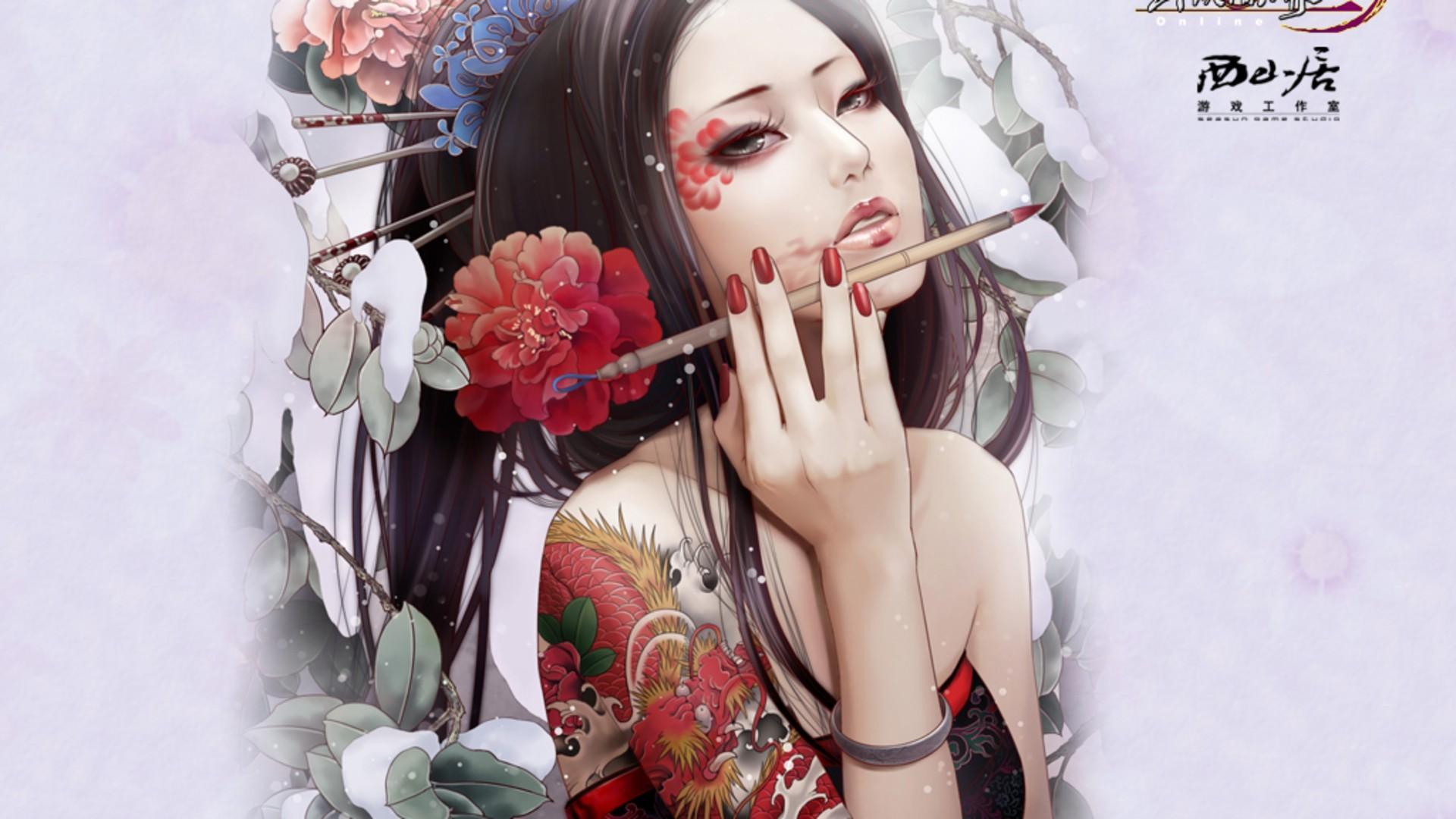 Tapety Model Anime Dziewcząt Anime Pomalowane Paznokcie