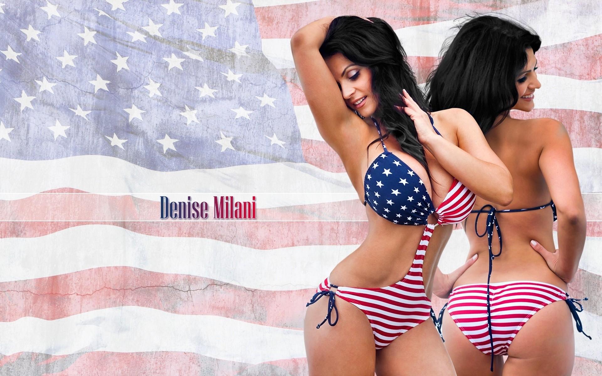 Бабу в бикини американский флаг ебут — photo 2