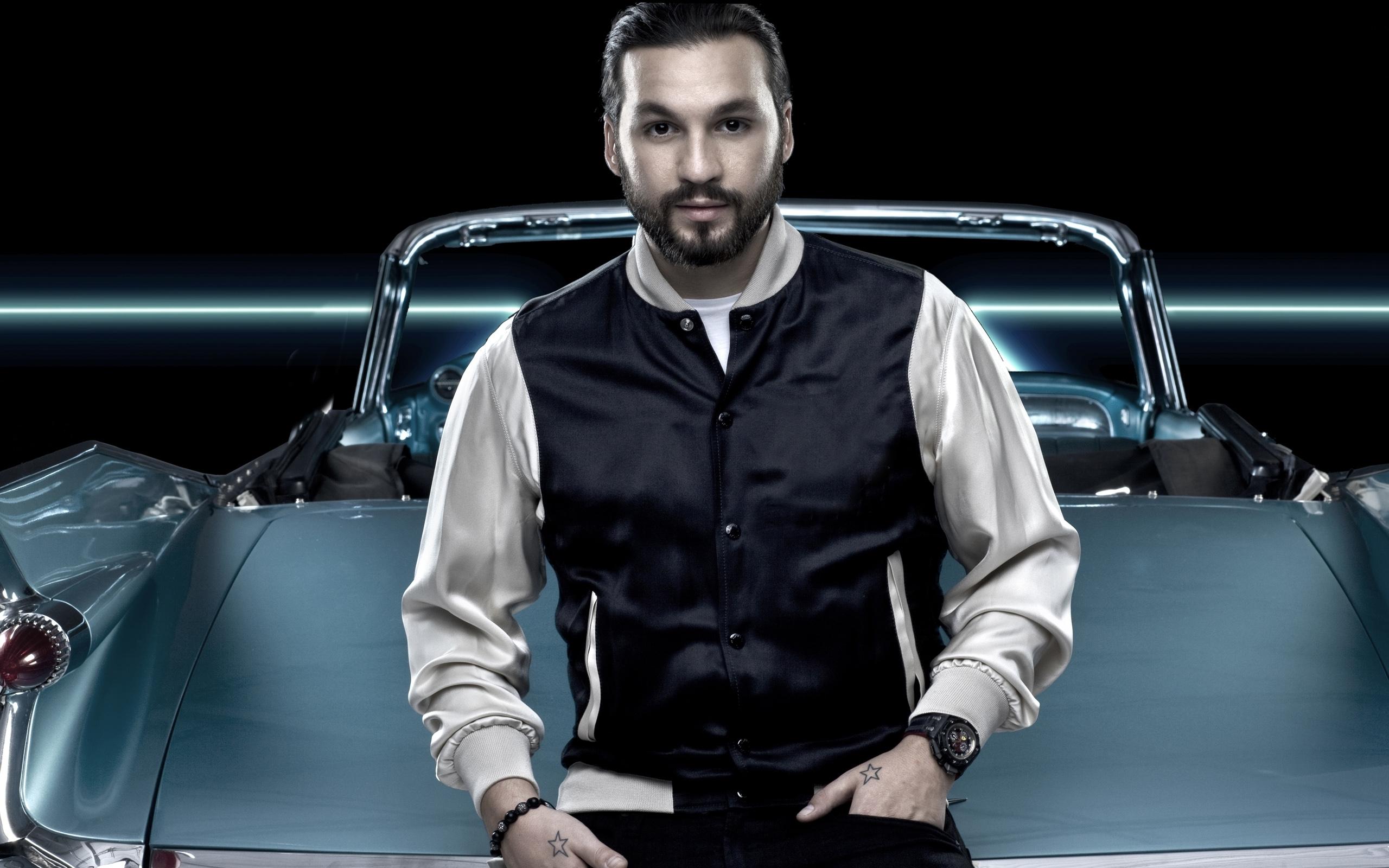 Model Car Vehicle Gentleman Fashion DJ Leather Steve Angello Photo Shoot
