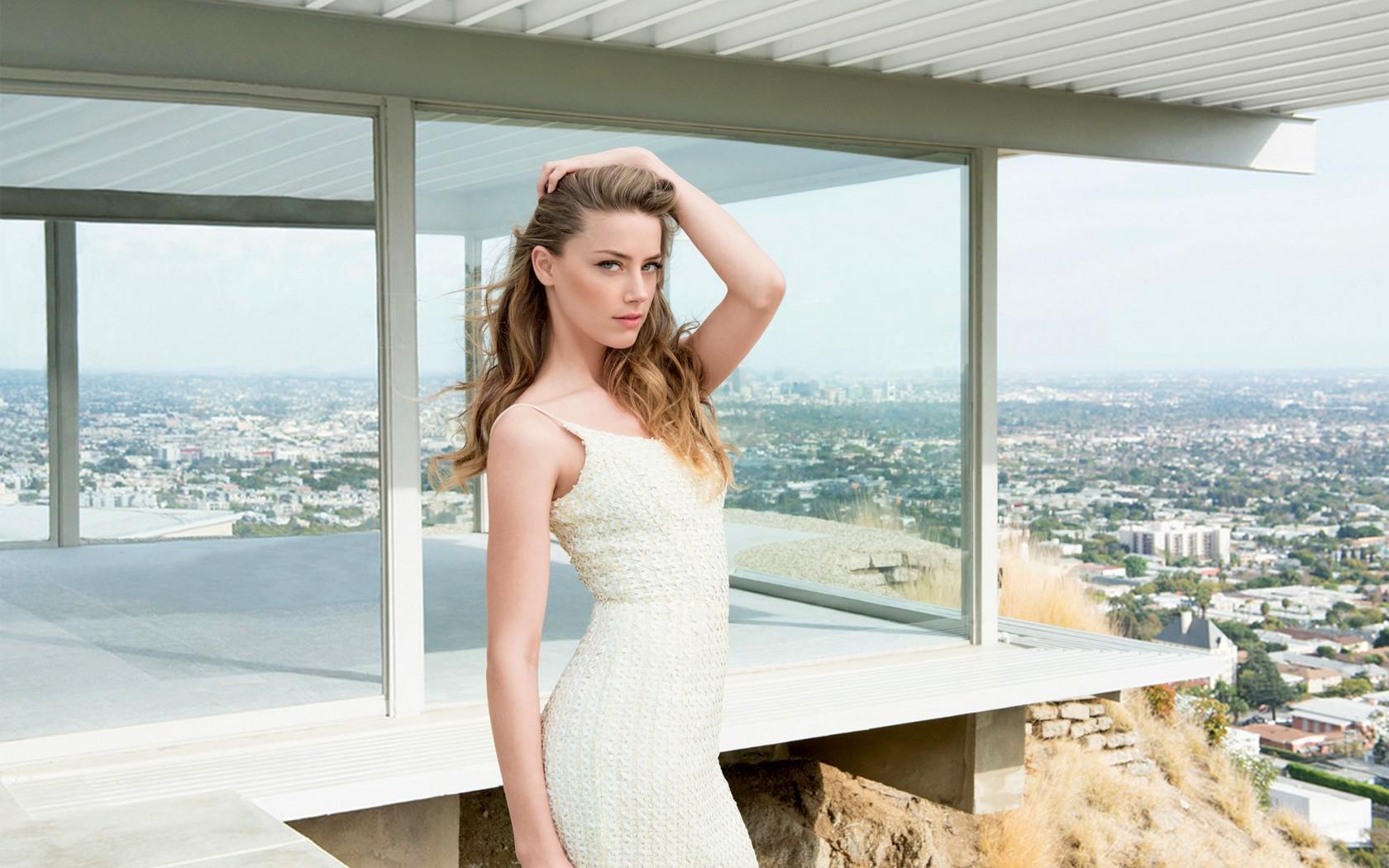 Wallpaper Model Cityscape Long Hair Looking At Viewer Actress