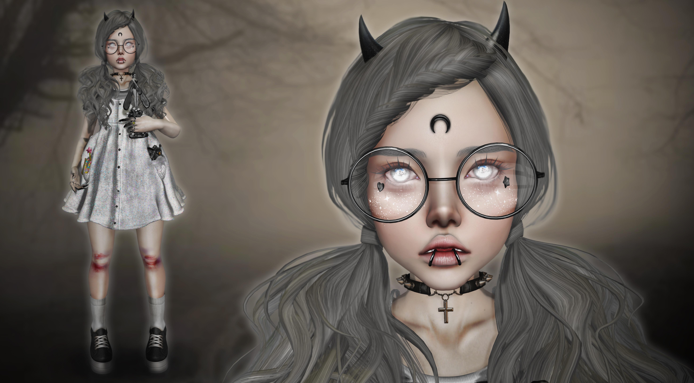 Wallpaper : Model, Dark, Creepy, Glasses, Fashion, Gothic