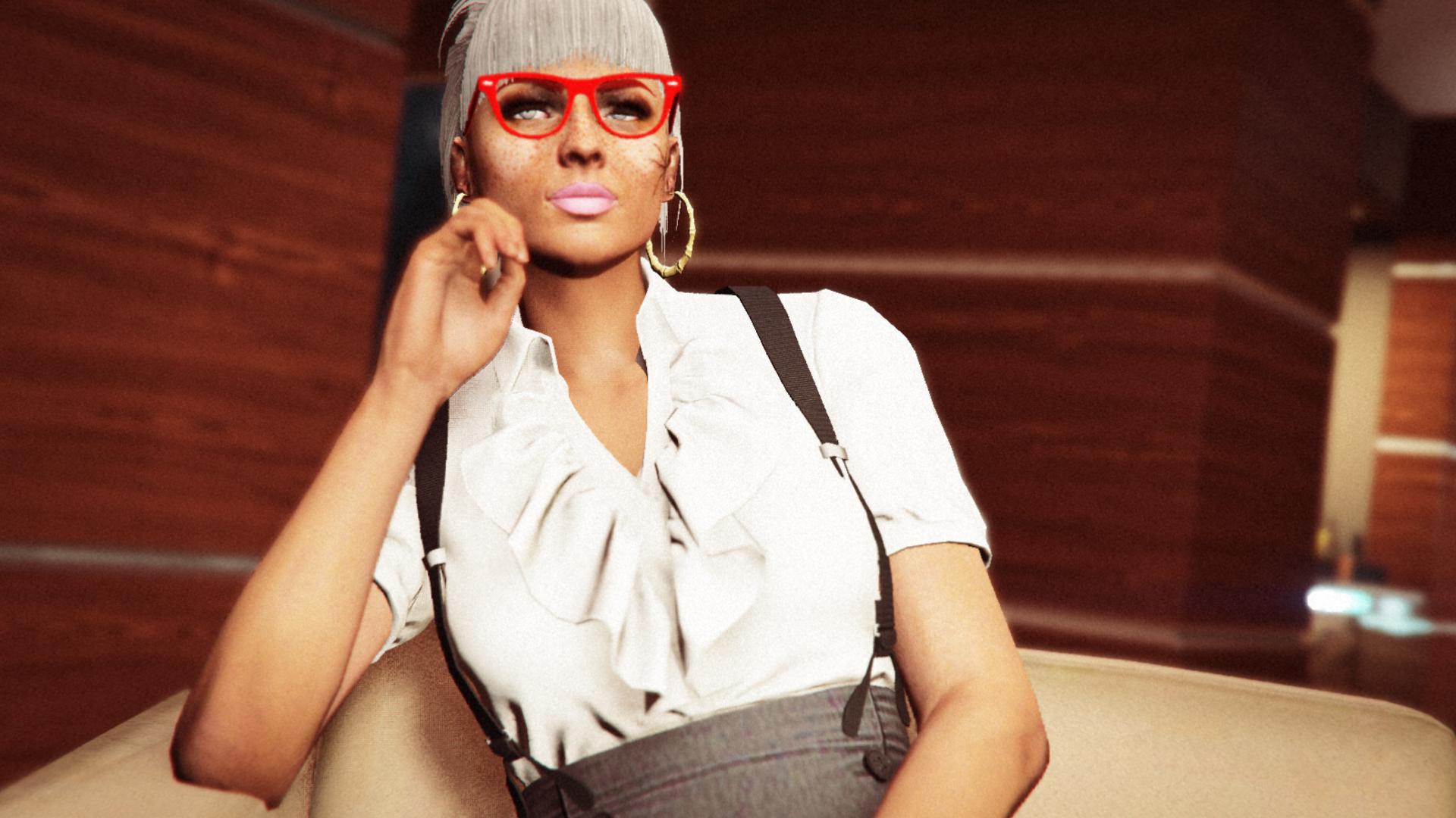 6635ba98cf6 model glasses makeup singer office fashion Grand Theft Auto V Grand Theft  Auto Online Rockstar Games
