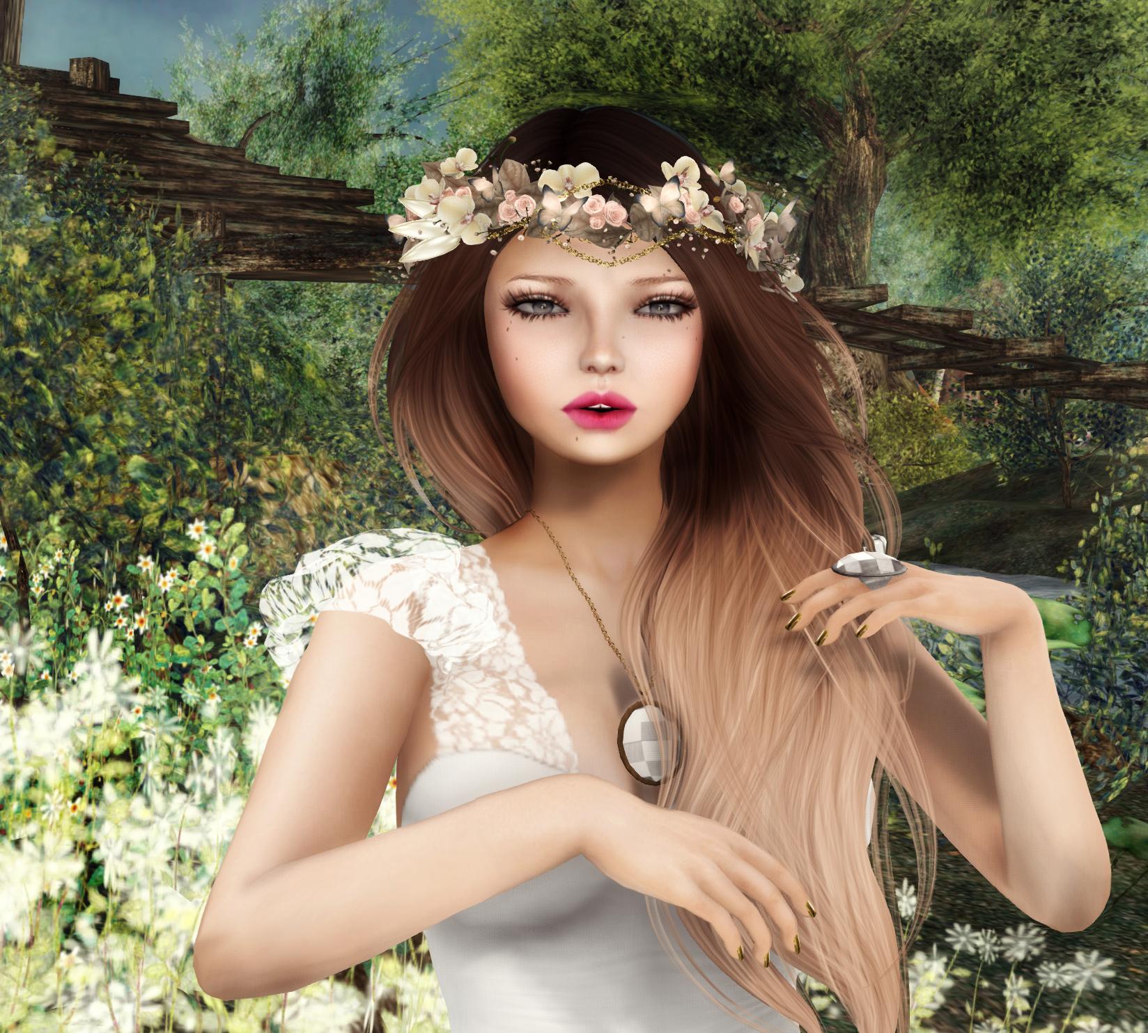 Hintergrundbilder Modell Lange Haare Feld Kleid Mode Haar
