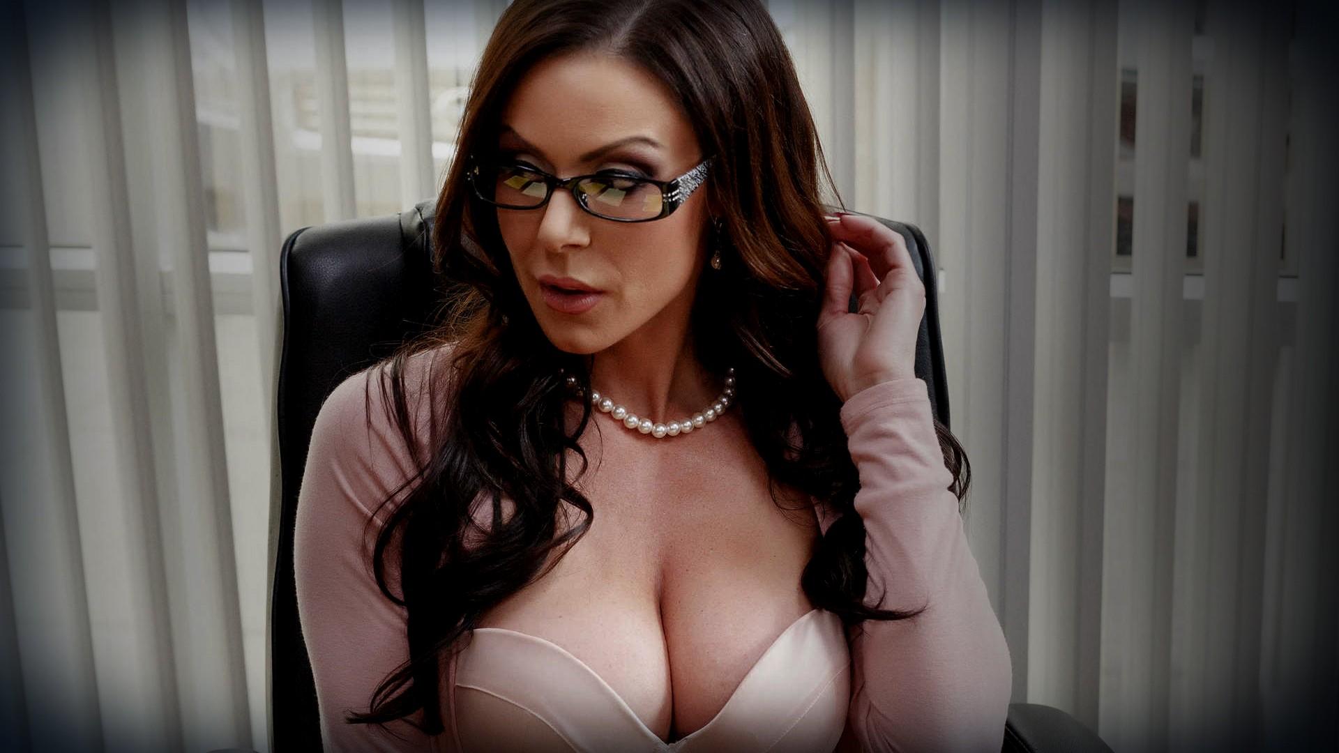 Dark hair glasses pornstar ana