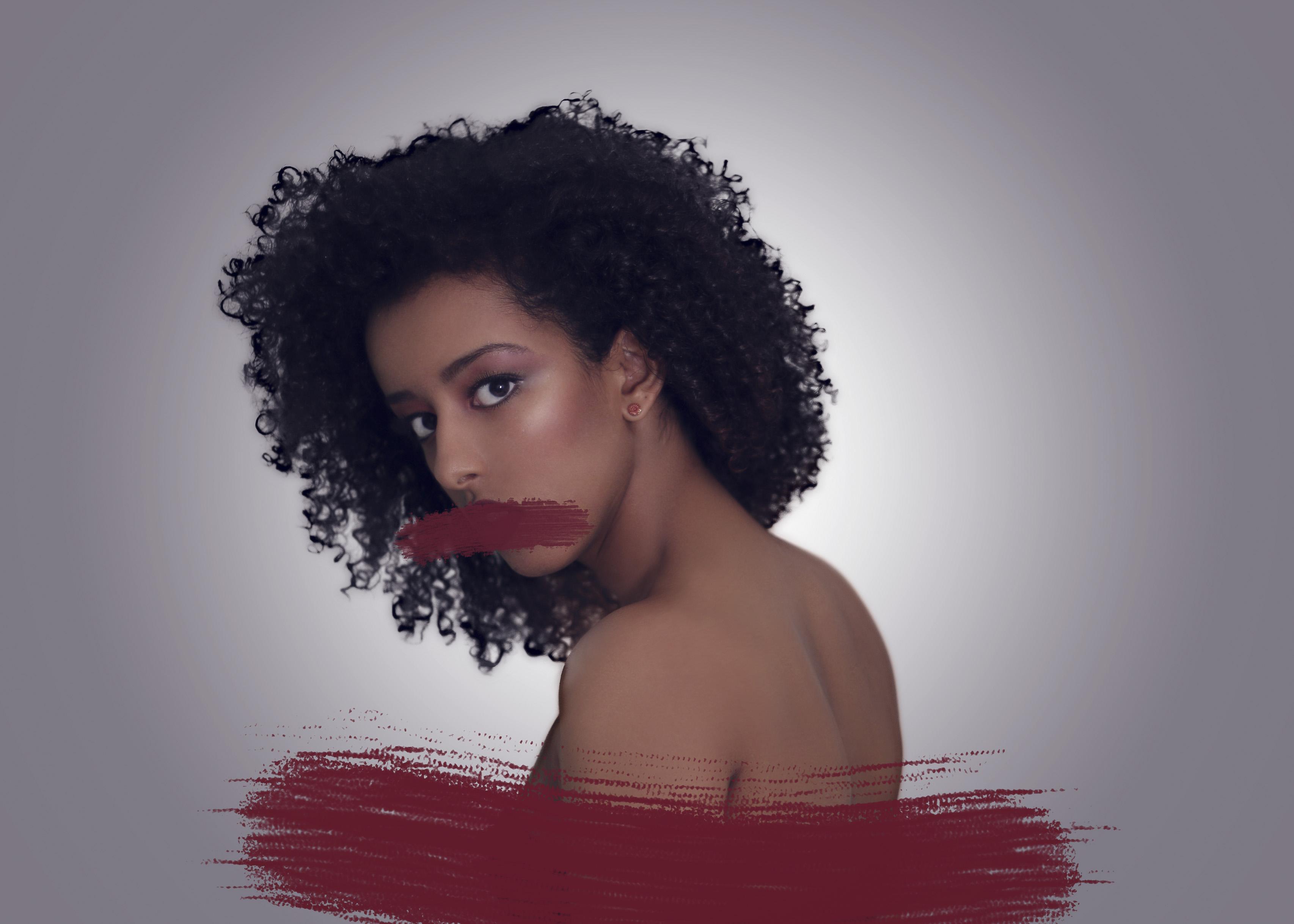 Wallpaper Model Long Hair Red Surreal Black Hair Afro Conceptual Girl Beauty Lip Surrealism Naturalhair Hairstyle Photo Shoot Brown Hair Human Hair Color Hair Coloring 52weeks Curlyhair Conceptualism 3412x2437