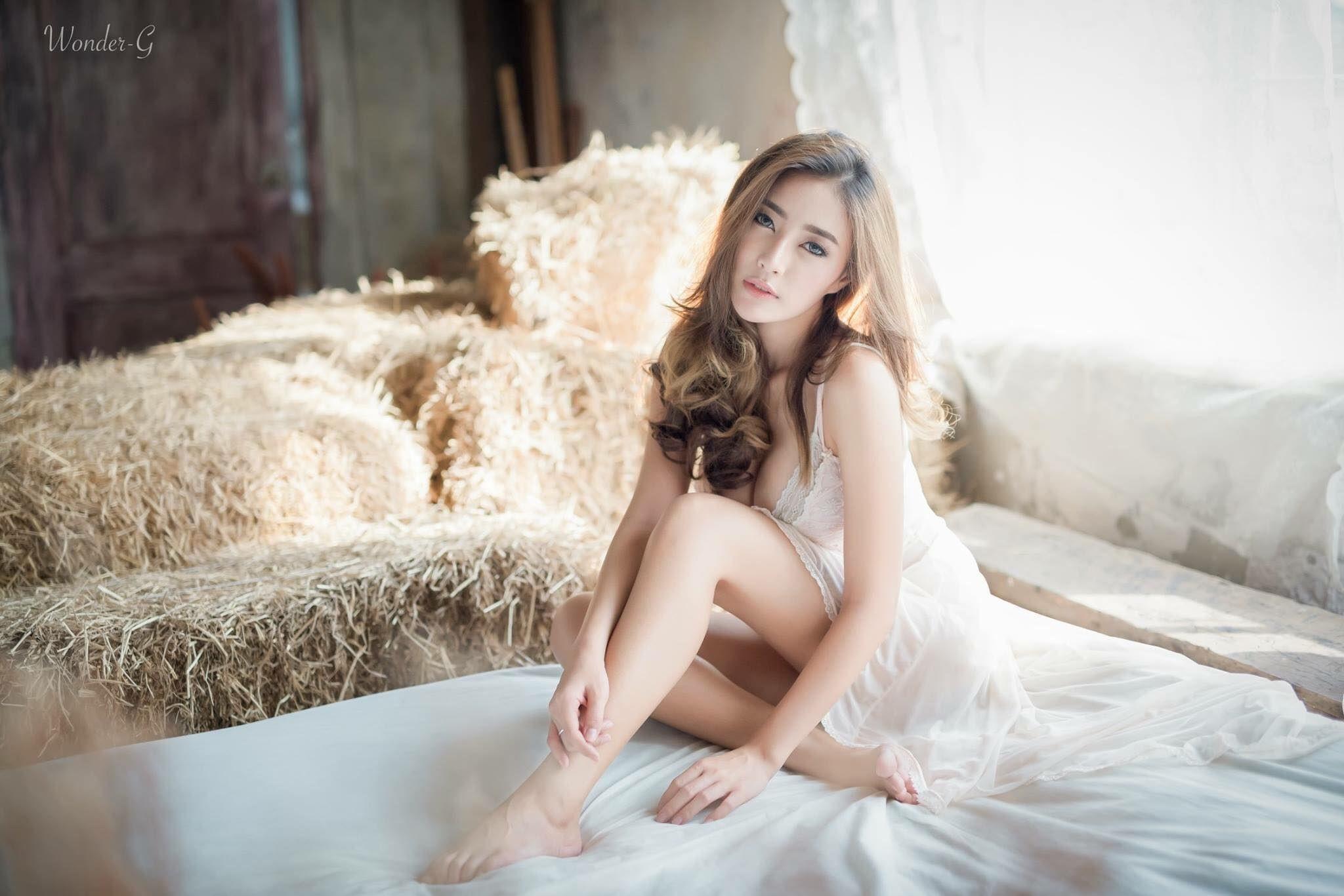 Hintergrundbilder : Modell-, Porträt, lange Haare, asiatisch ...