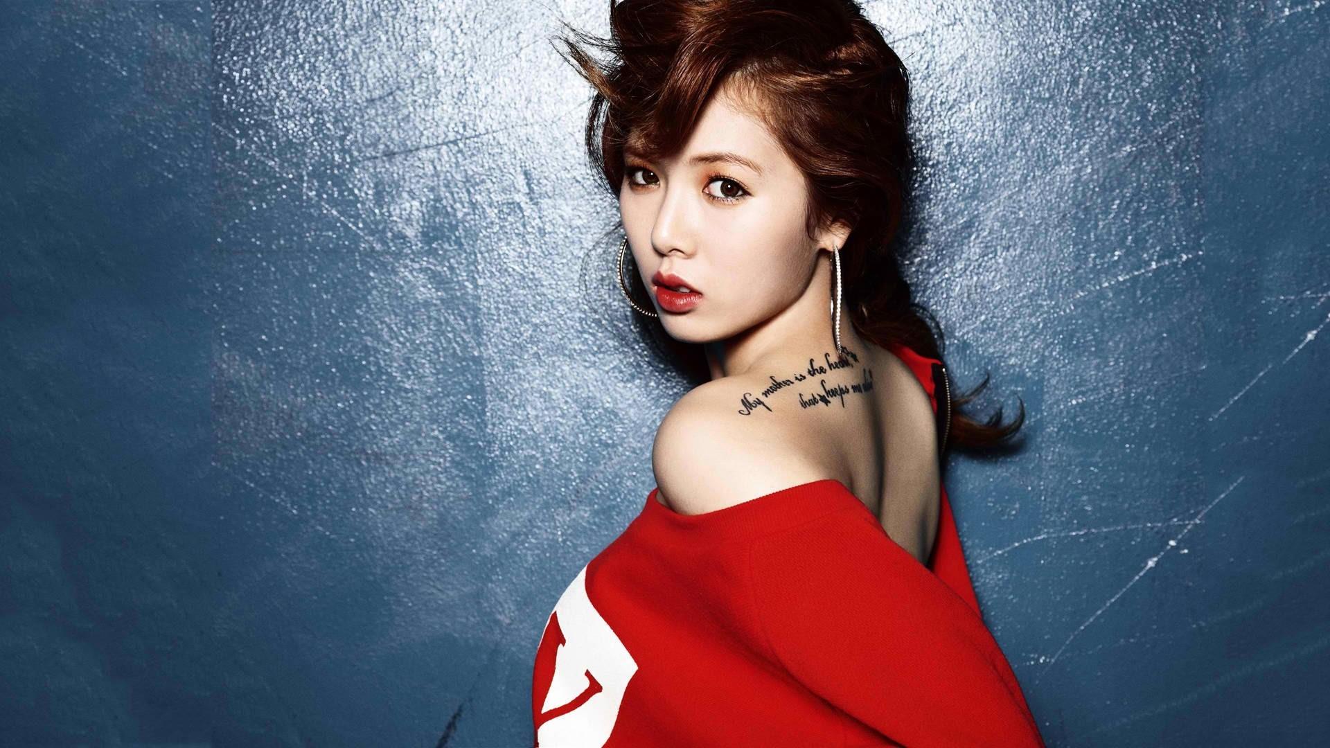 Wallpaper Women Model Long Hair Asian Singer Blue: Wallpaper : Model, Long Hair, Brunette, Red, Asian, Singer