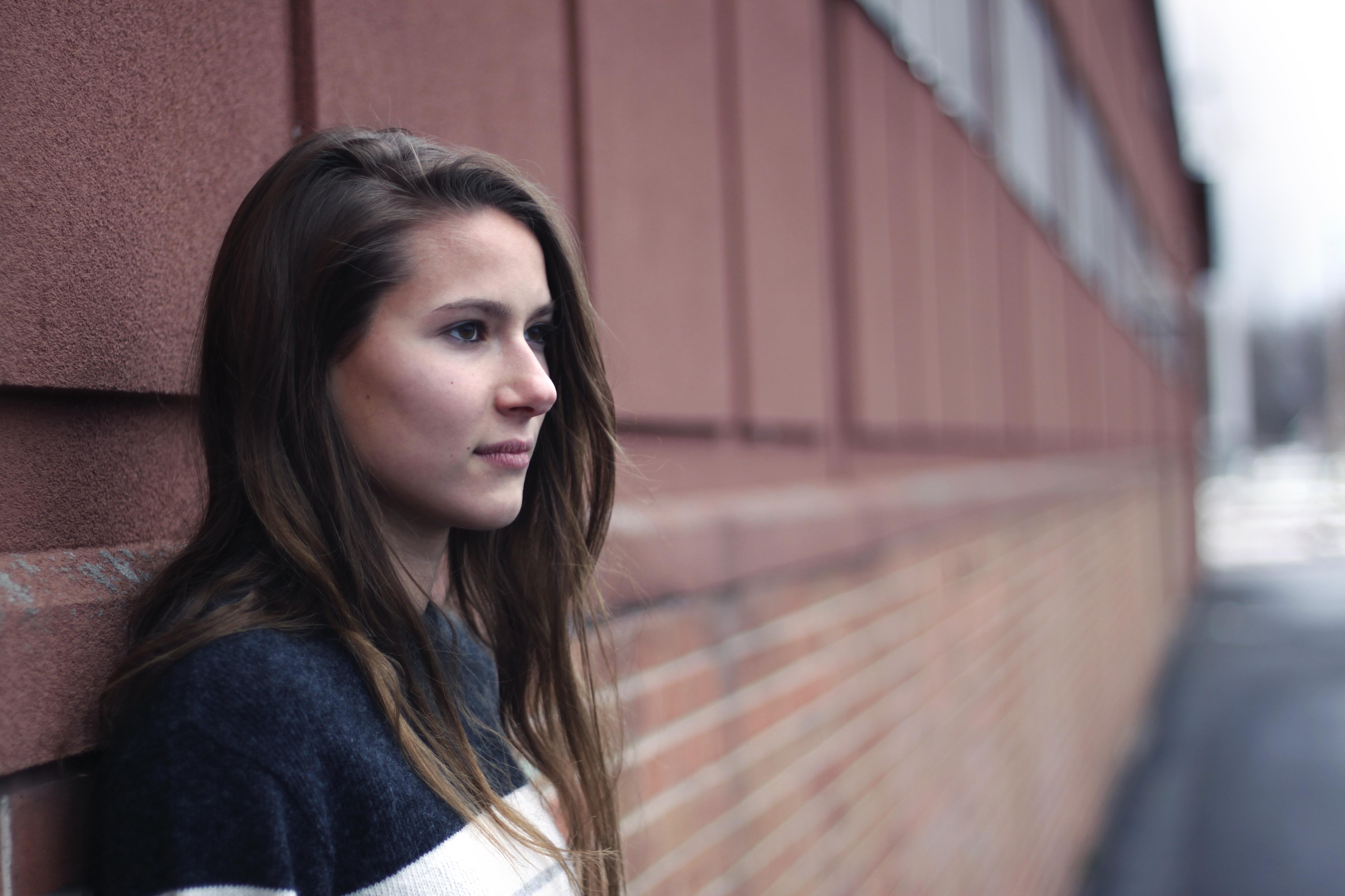 Masaüstü Model Portre Uzun Saç Kış Fotoğraf Profil Siyah Saç
