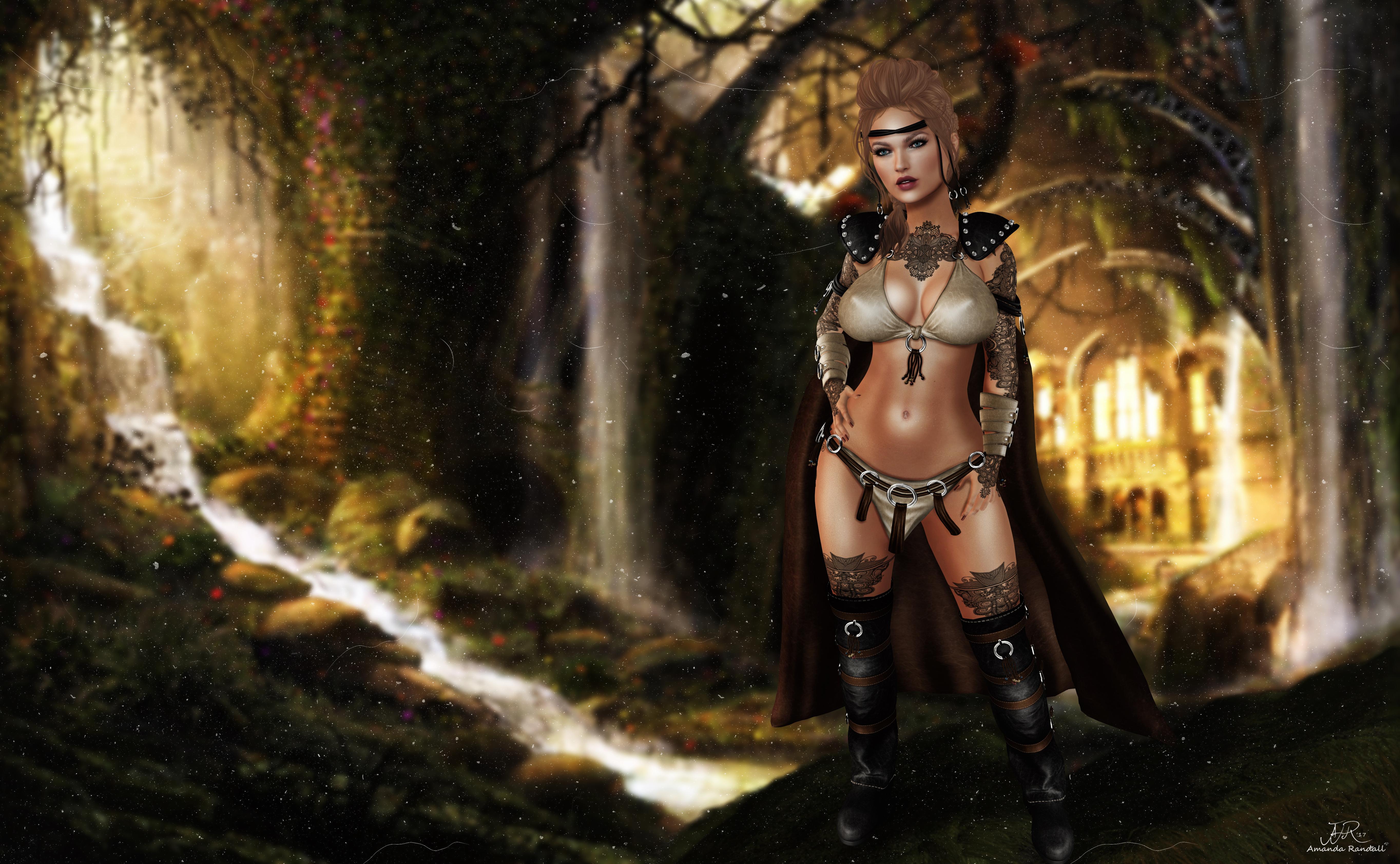 Wallpaper : model, tattoo, fashion, hair, boots, jungle