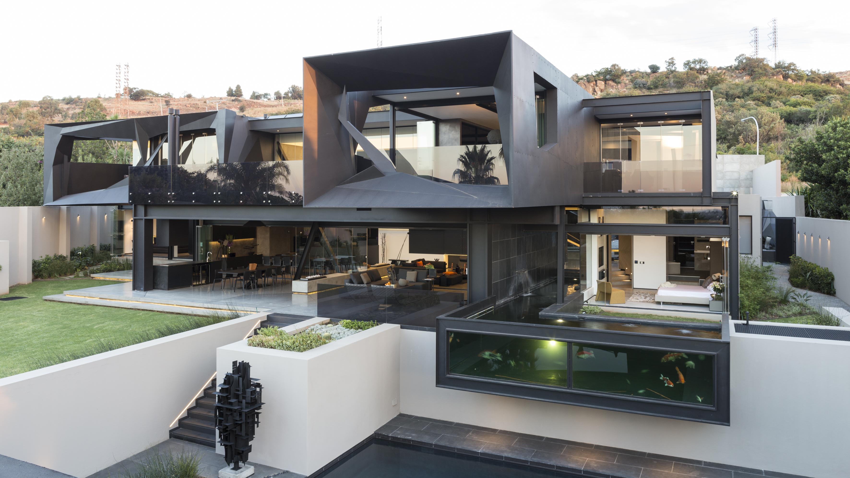 Wallpaper Modern Architecture Nature Landscape House Glass
