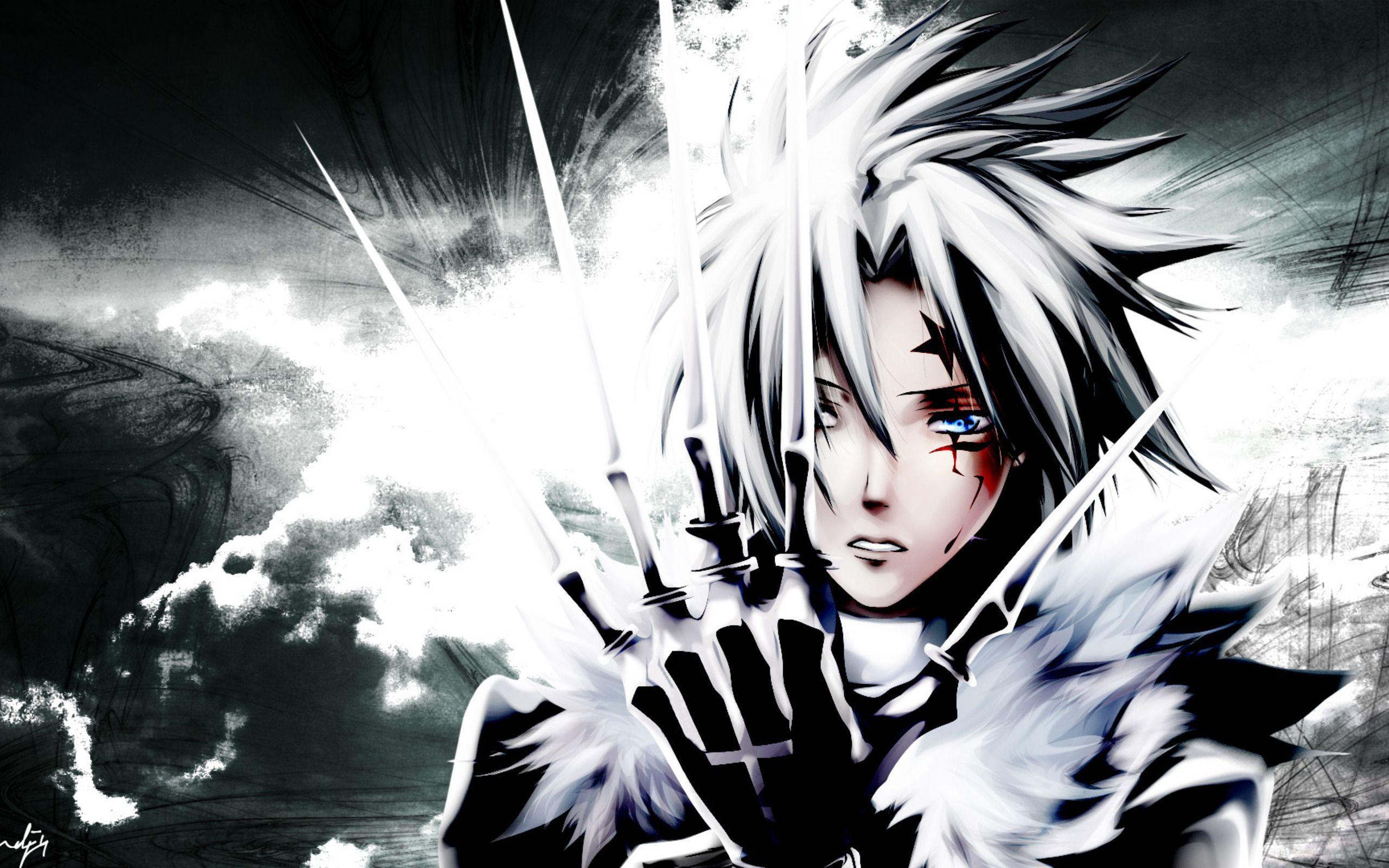 Đơn sắc Anime D Người đàn ông xám Allen Walker NGHỆ THUẬT đen và trắng Nhiếp
