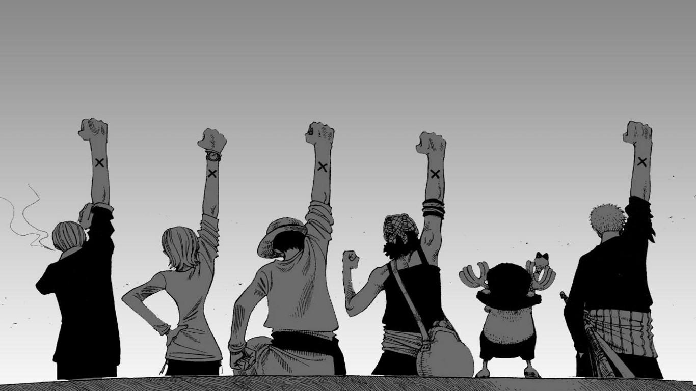 Wallpaper Anime Sky White Background Arms Up Back One Piece Sanji Monkey D Luffy Roronoa Zoro Nami Tony Chopper Usopp Fun Recreation