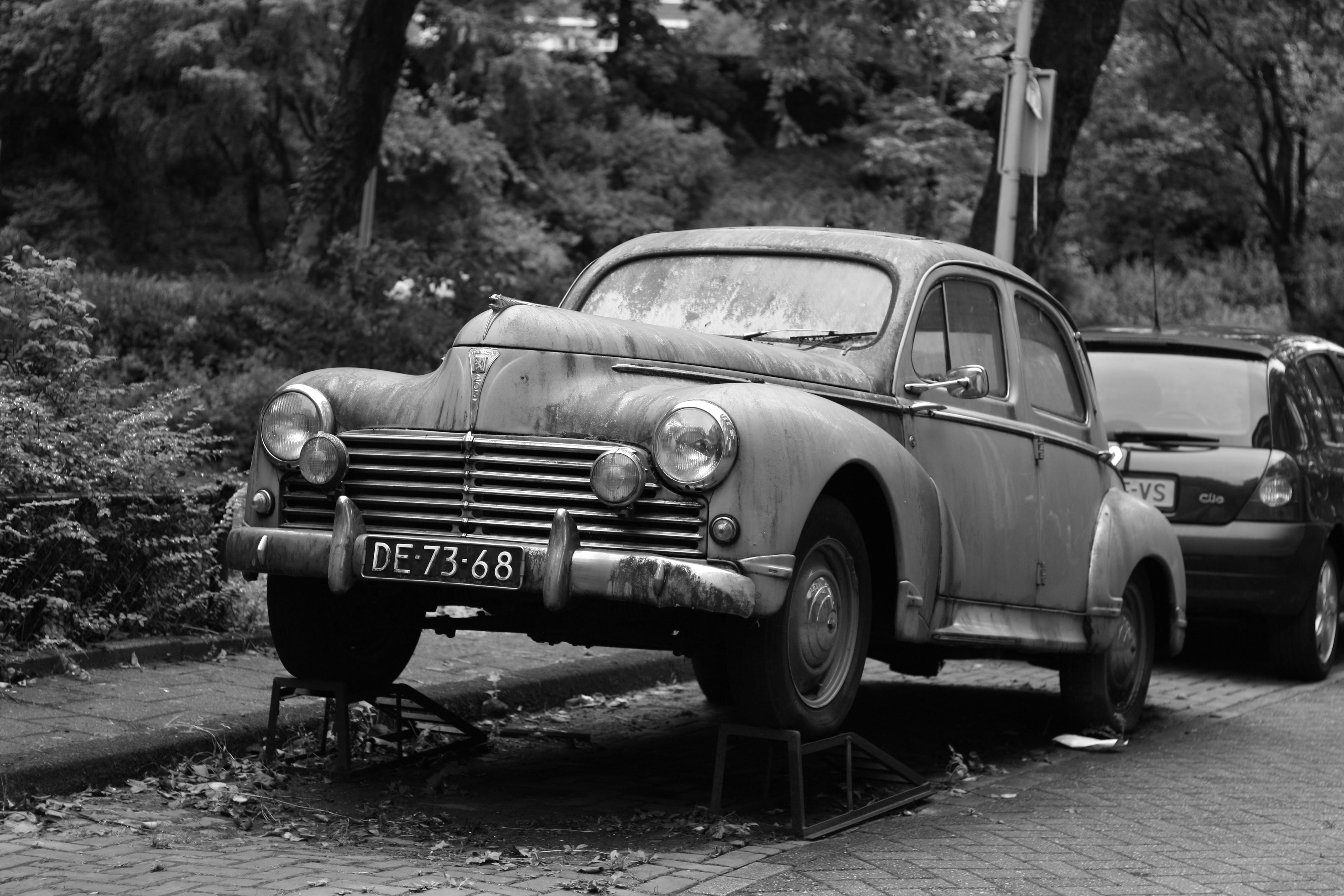Fond D Ecran Monochrome Voiture Ancienne Oldtimer Peugeot