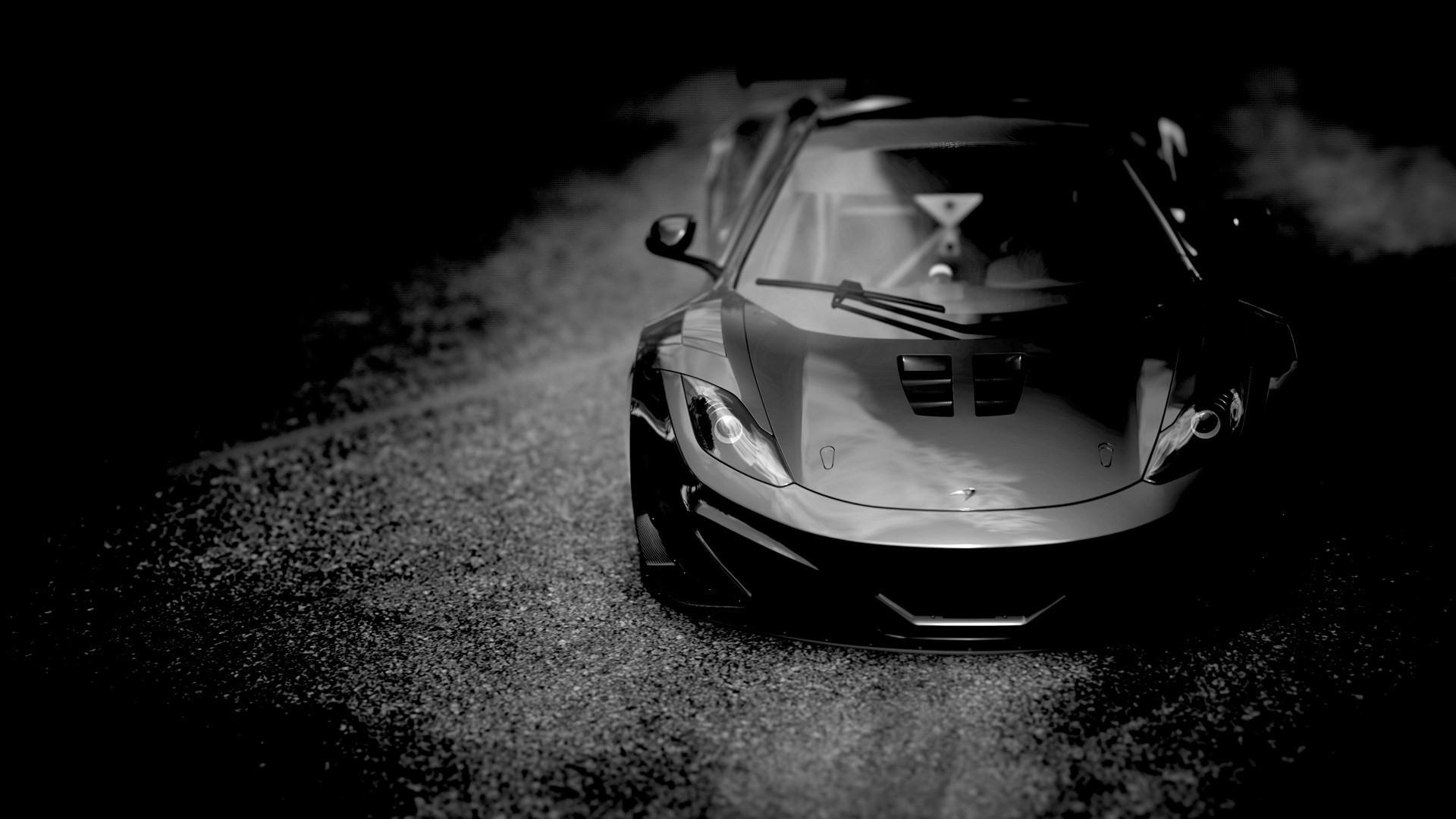 Black Sports Car Wallpaper: Wallpaper : Black Cars, Sports Car, McLaren MP4 12C, Wheel