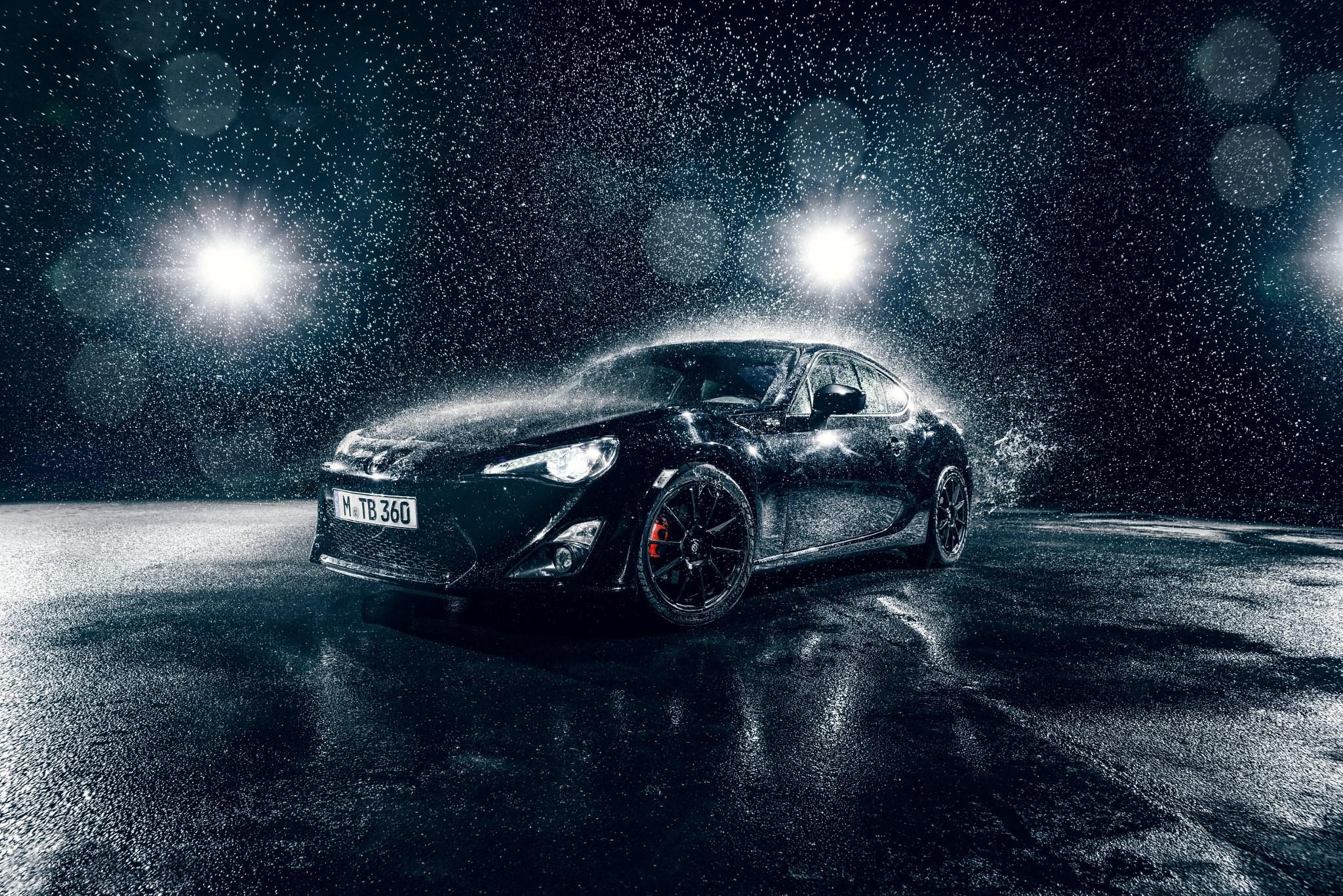 Wallpaper : monochrome, rain, sports car, Toyota 86