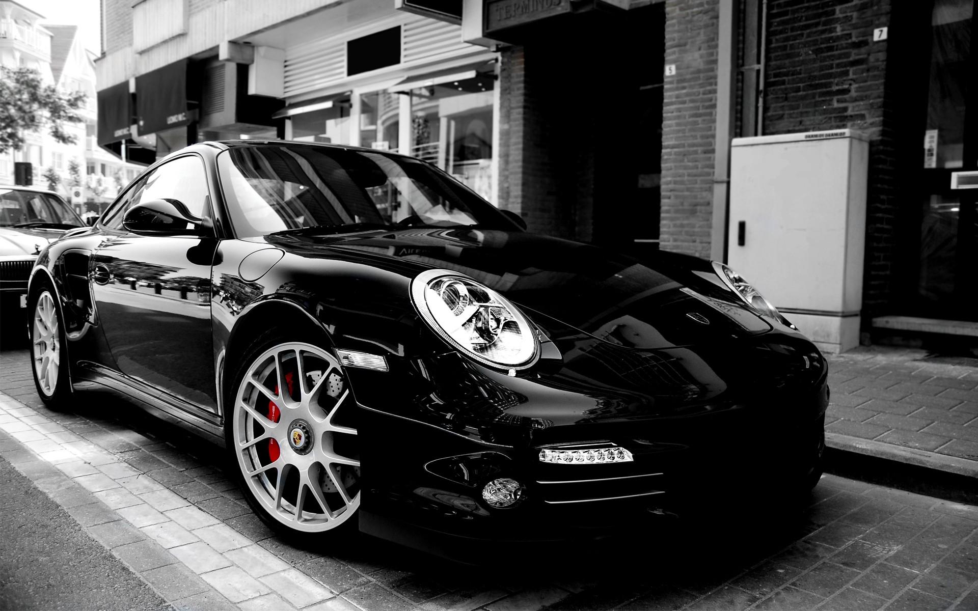 Wallpaper Satu Warna Mewarnai Selektif Porsche 911