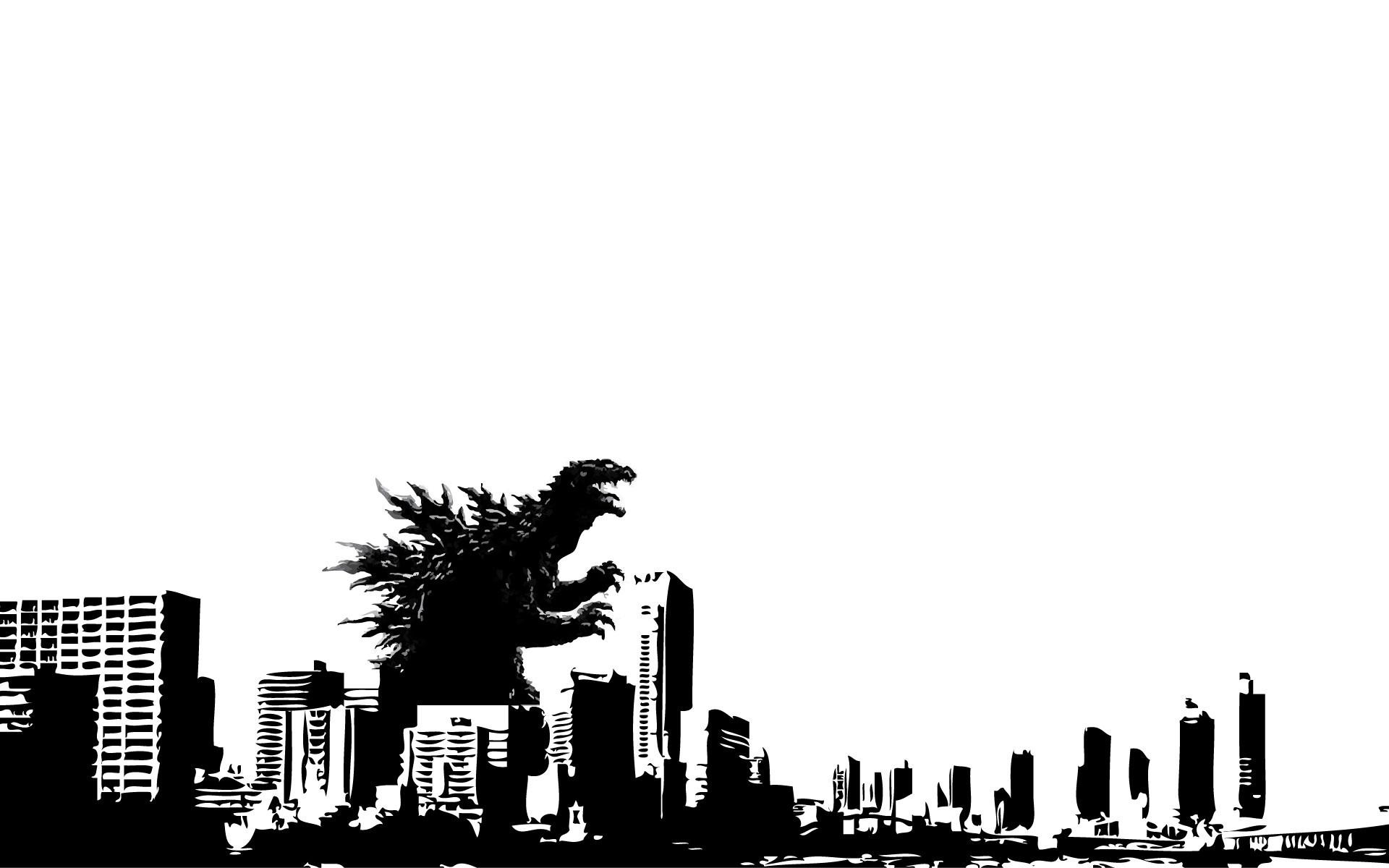 デスクトップ壁紙 : シティ, アニメ, 空, シルエット, スカイライン, ブランド, 大都市, ゴジラ, 木 ...