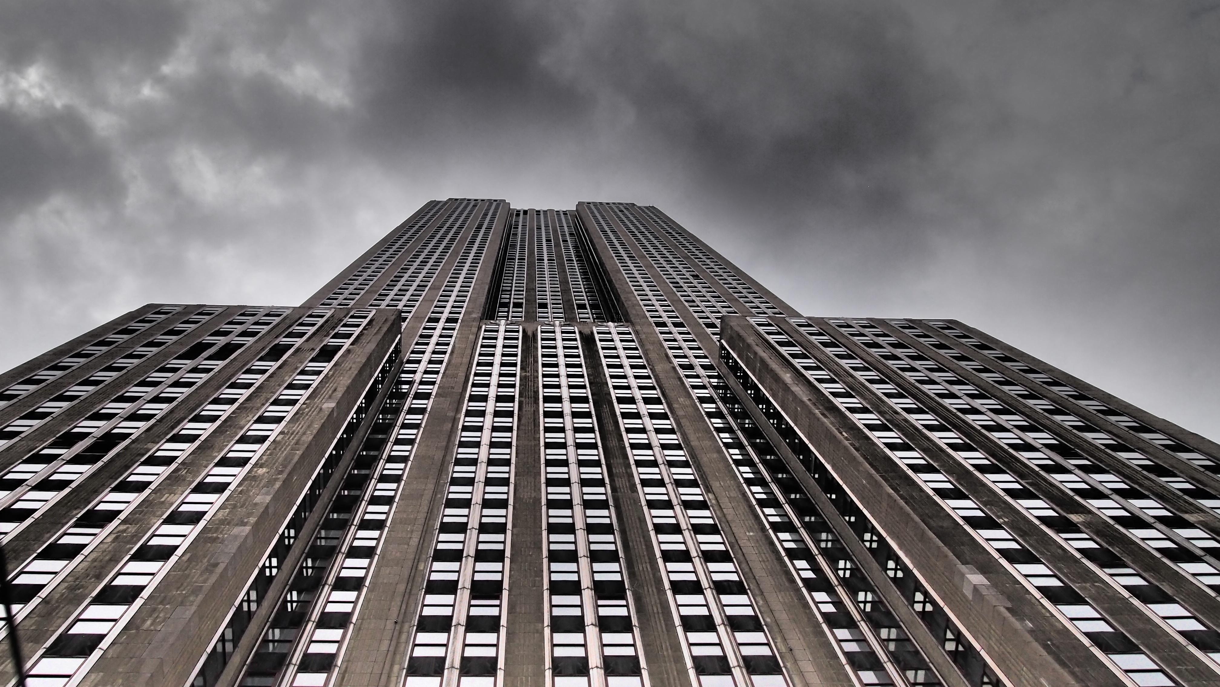 Wallpaper city cityscape architecture symmetry skyscraper New