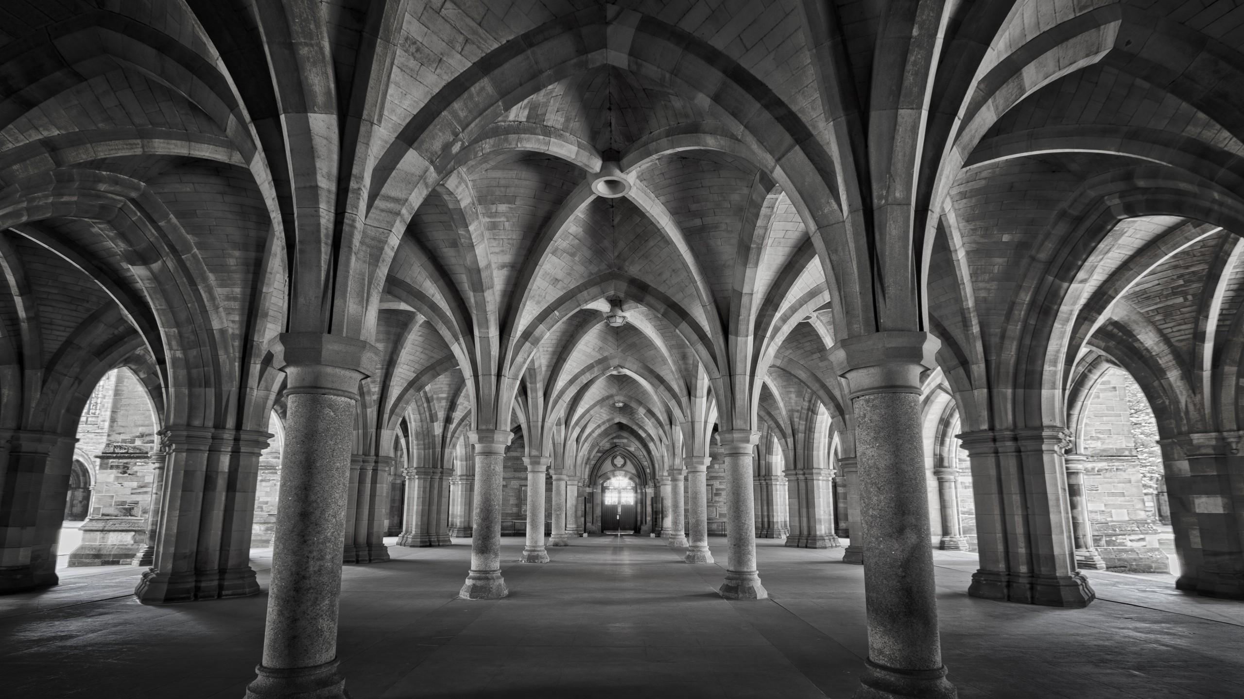 Wallpaper Depth Of Field Building Scotland Symmetry