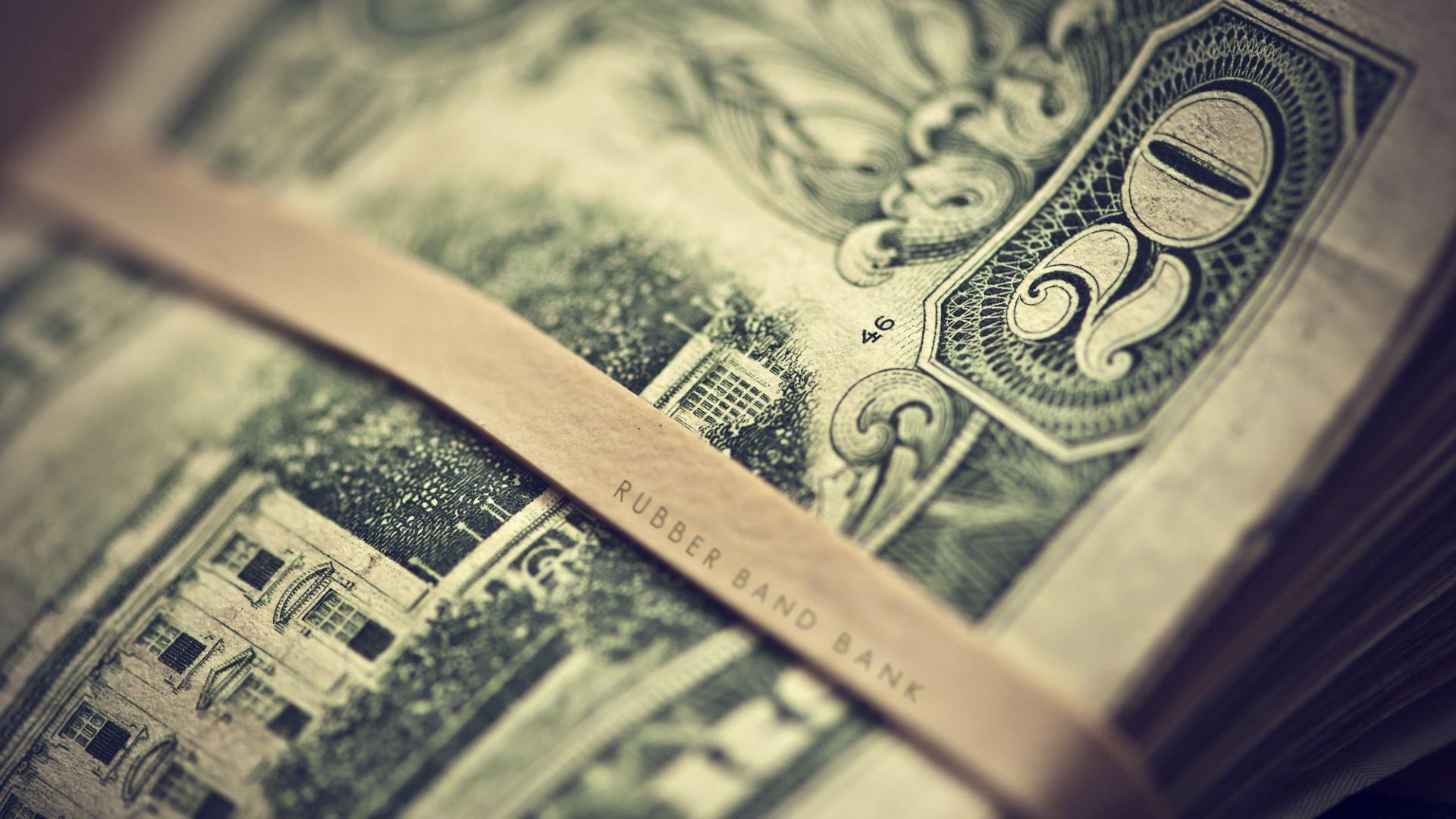 デスクトップ壁紙 モノクロ 被写界深度 お金 ドル紙幣 通貨