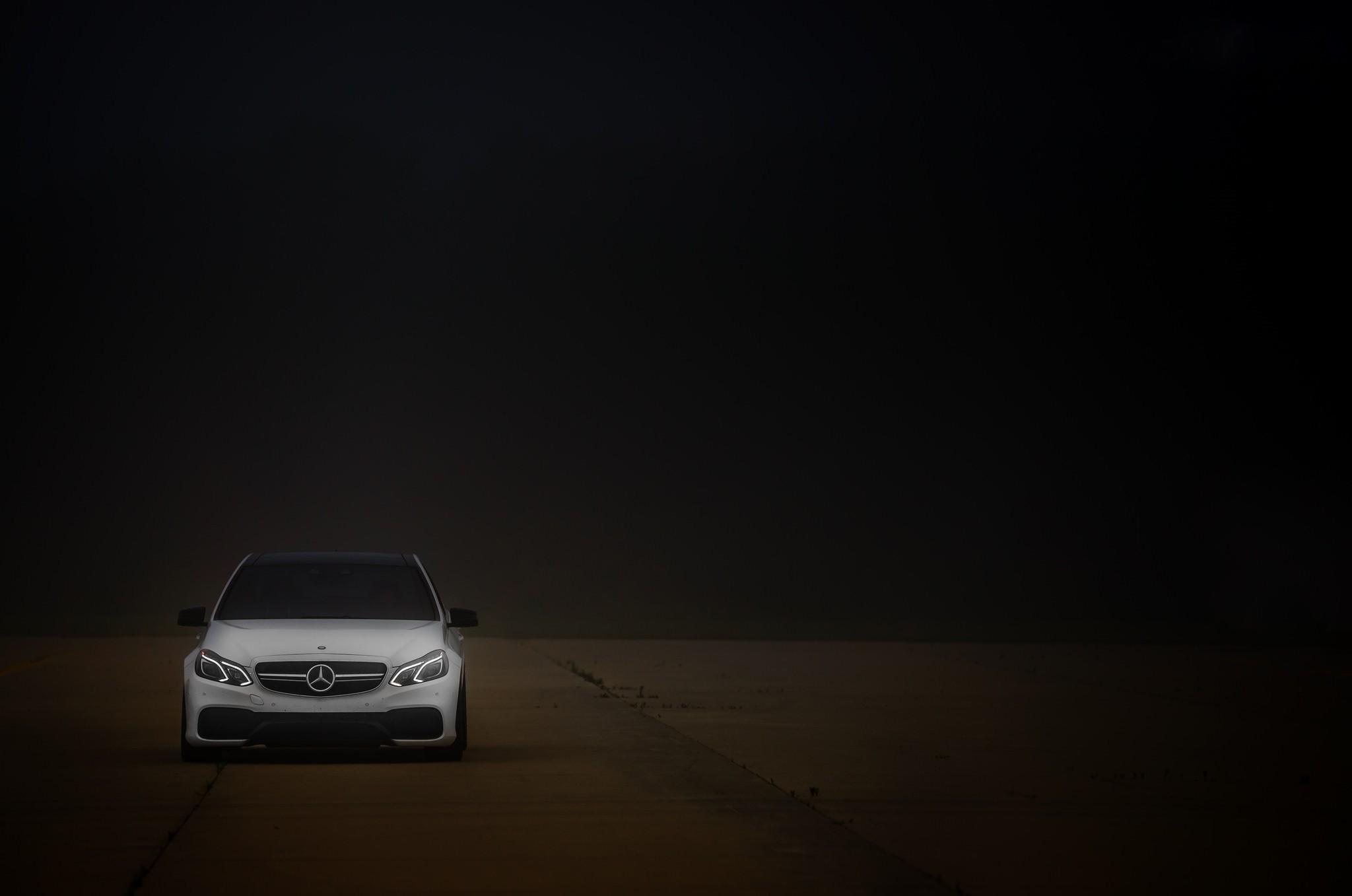 Fond D Ecran Monochrome Nuit Voiture Vehicule Mercedes Benz
