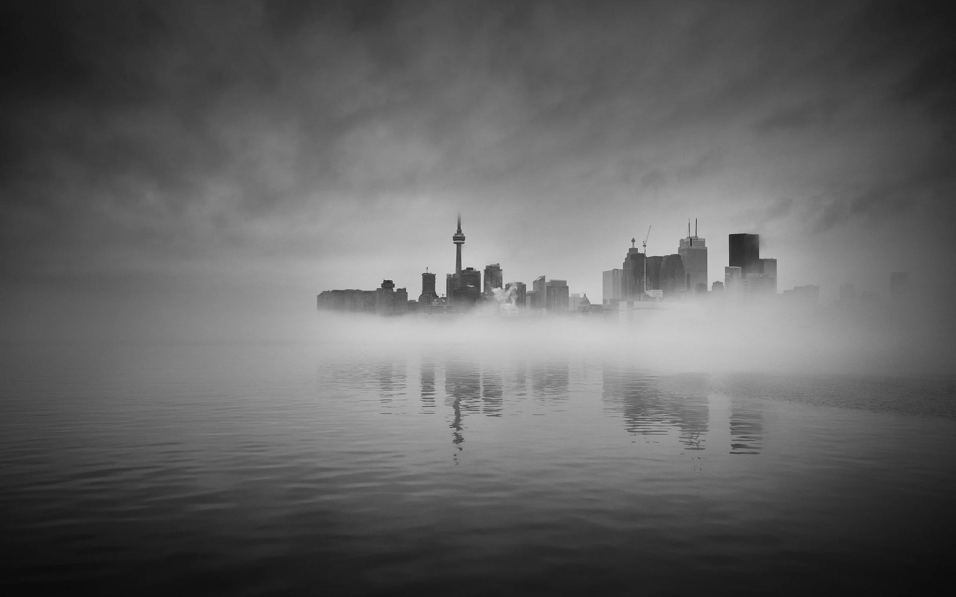 Обои туман. Города foto 9