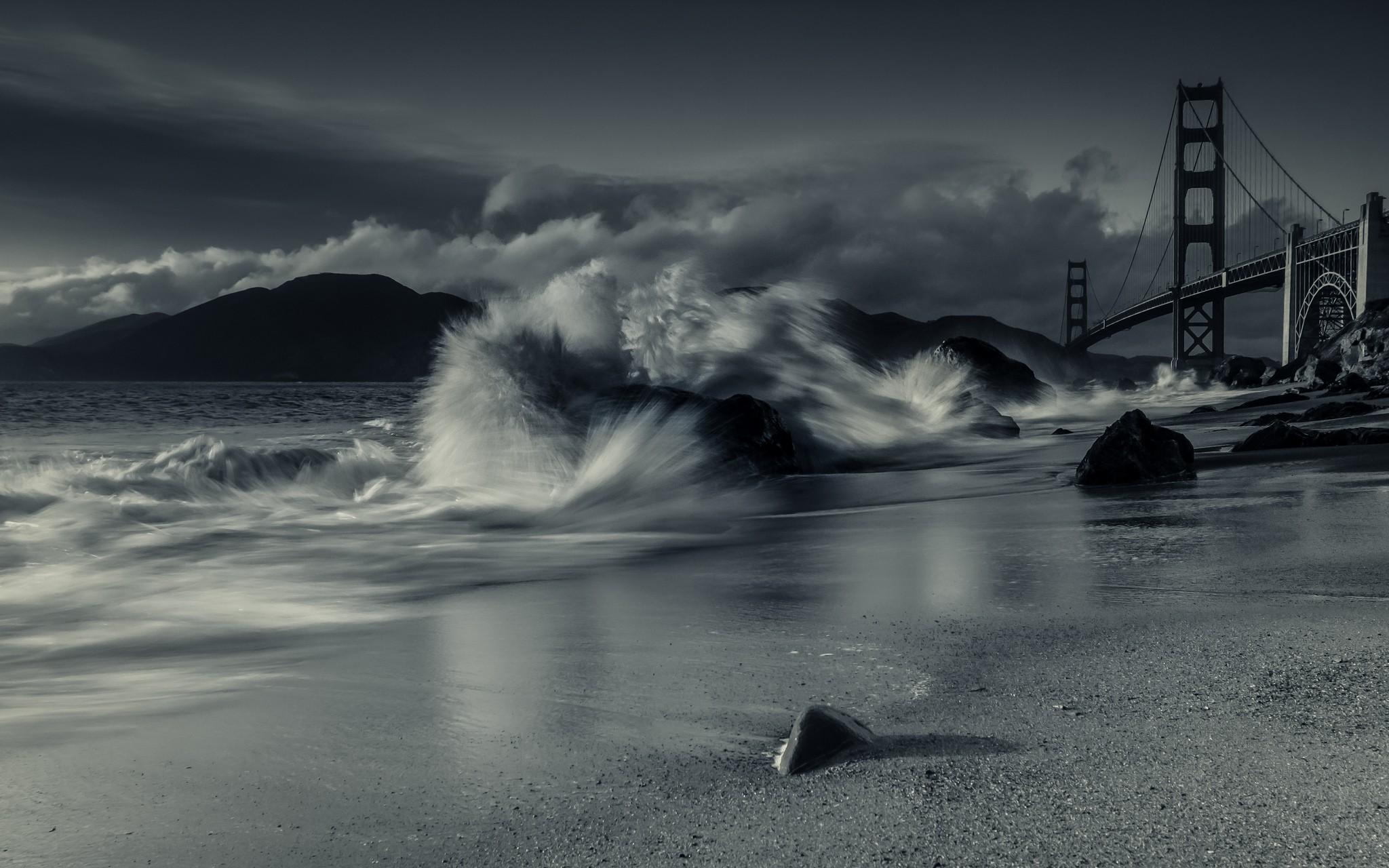 Обои Сан франциско, сша, Залив, облако, туман. Города foto 7