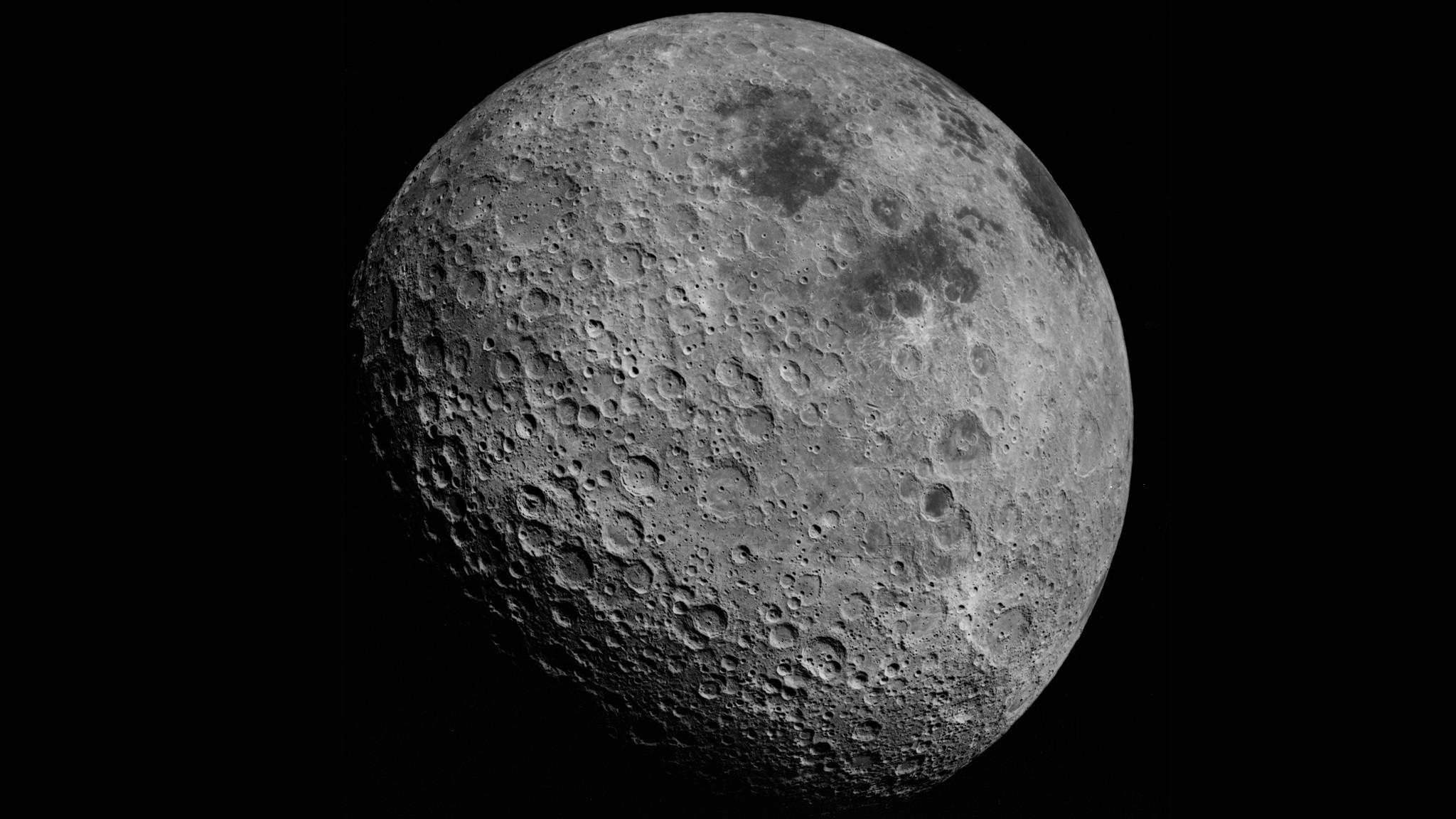 Fond Décran Monochrome Espace Art De Lespace Lune