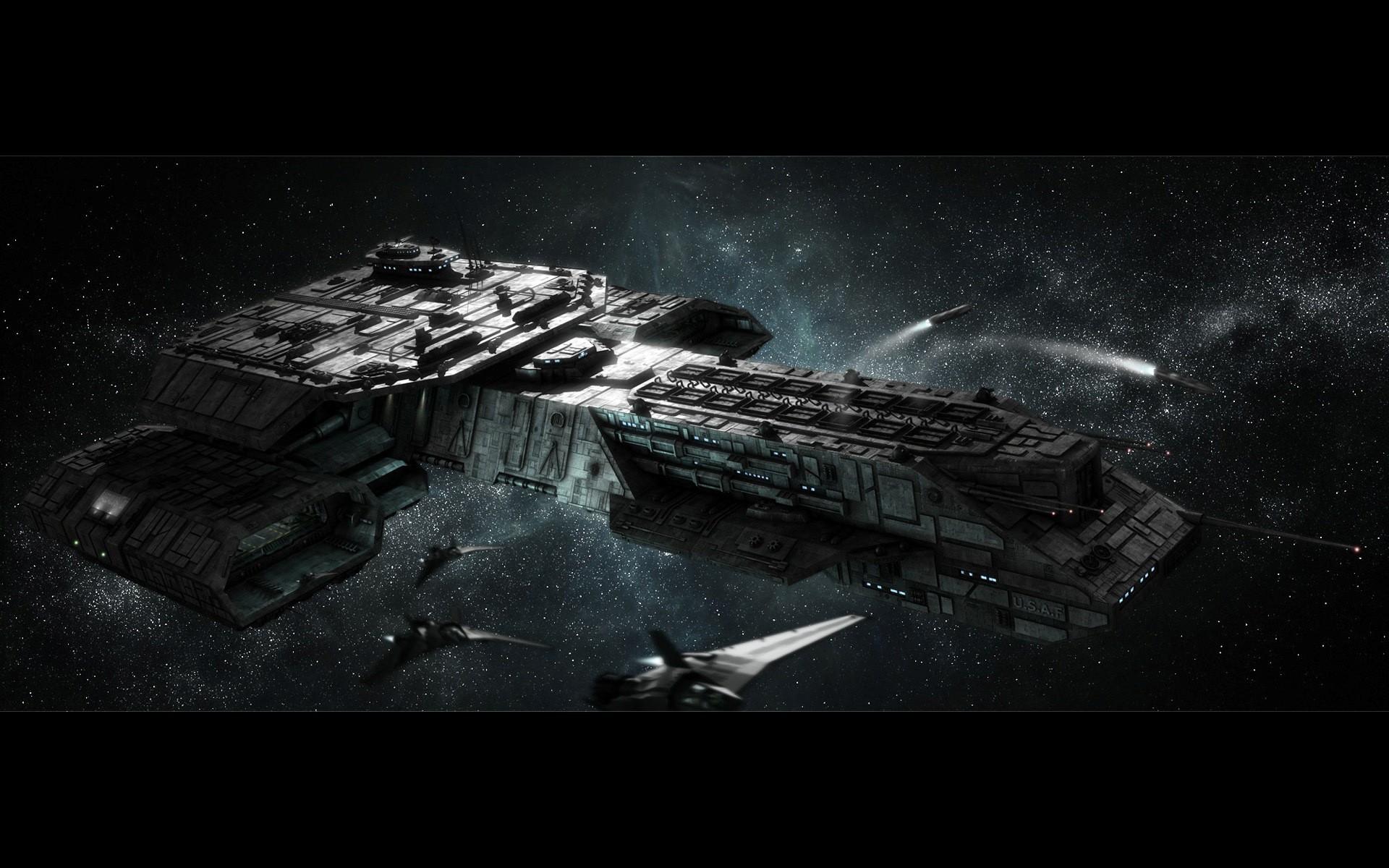 Papel De Parede Monocromático Veículo Stargate Meia
