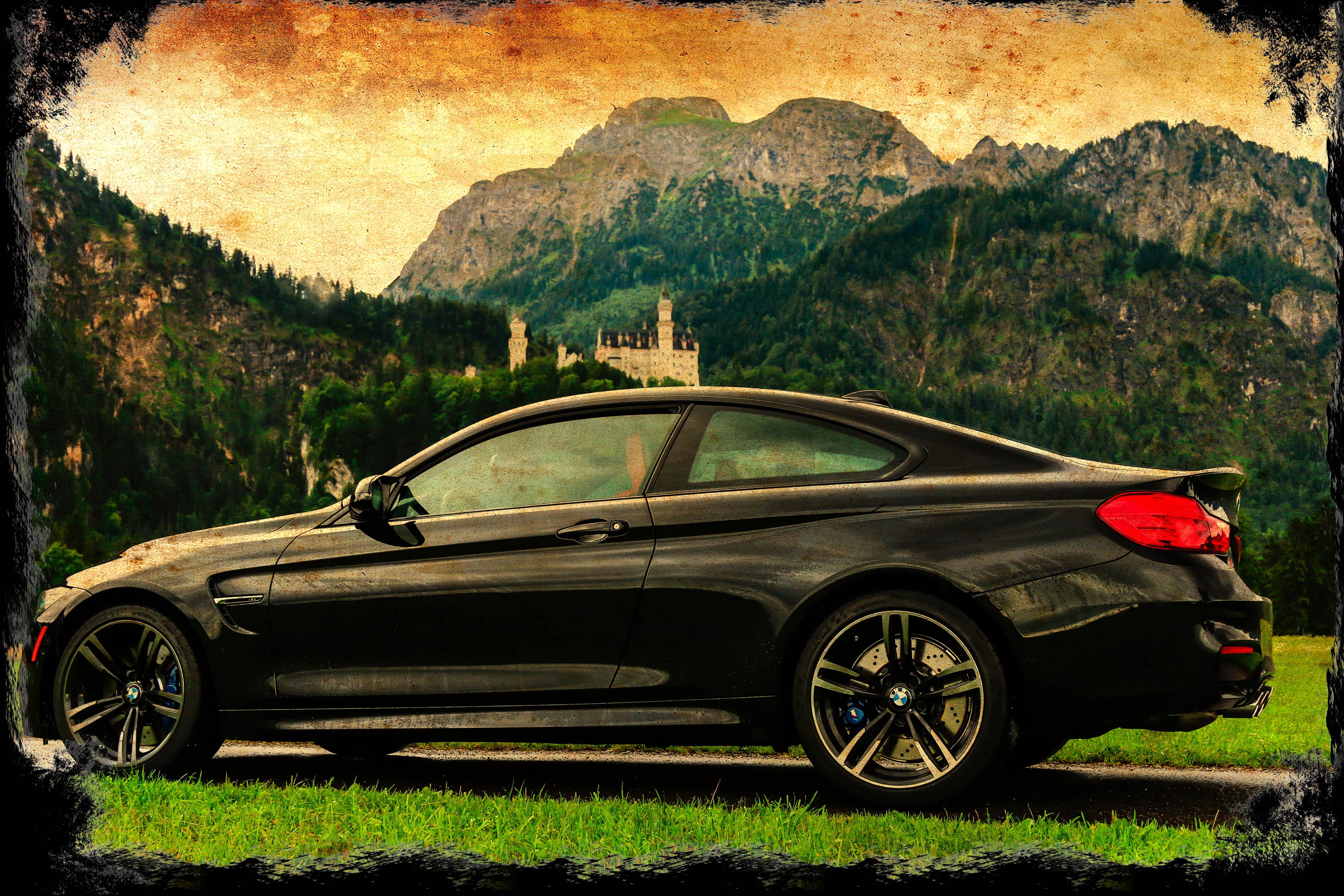 Fondos de pantalla : montaña, castillo, Alemania, marco, BMW ...