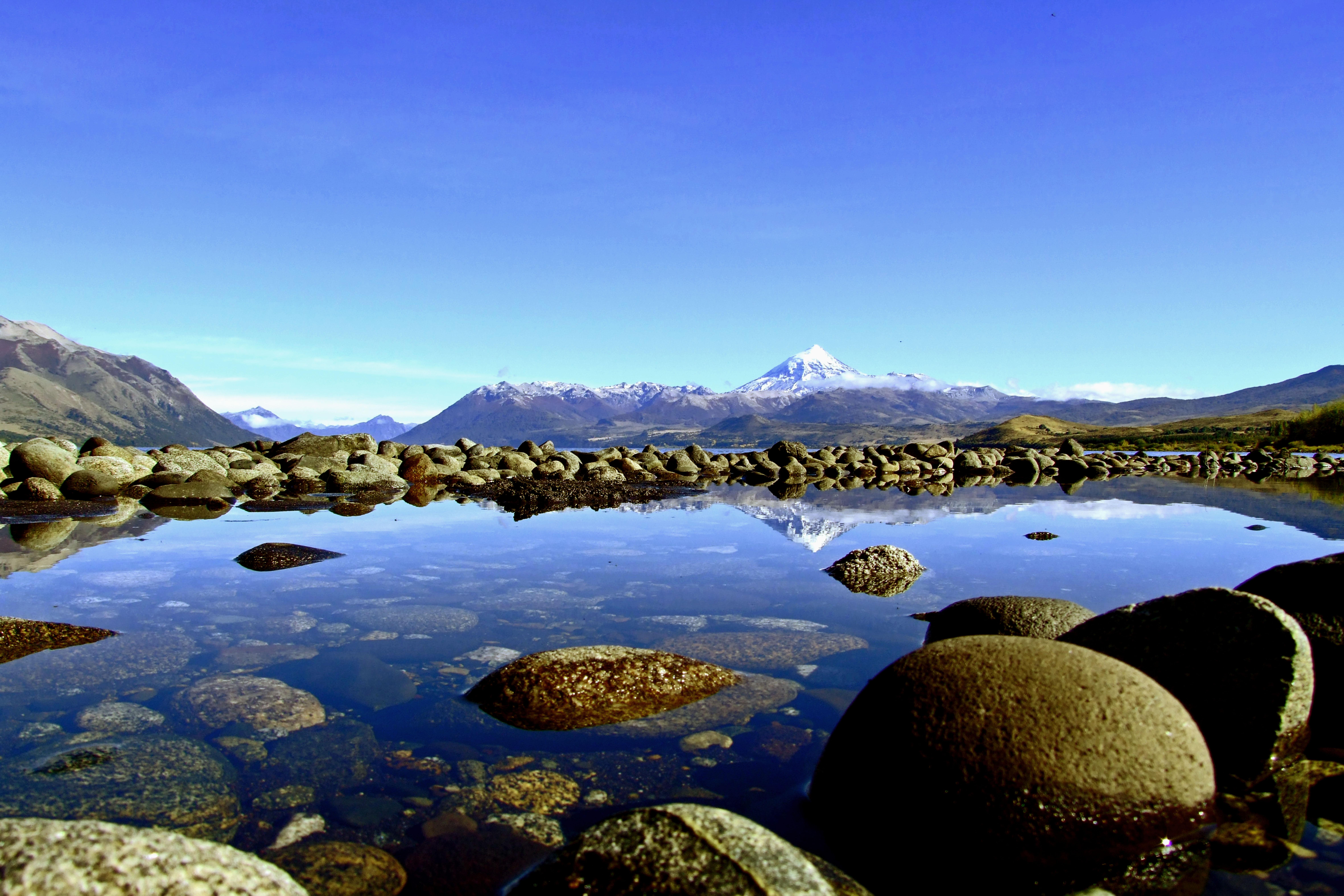 Wallpaper Mountain Mountains Reflection Southamerica