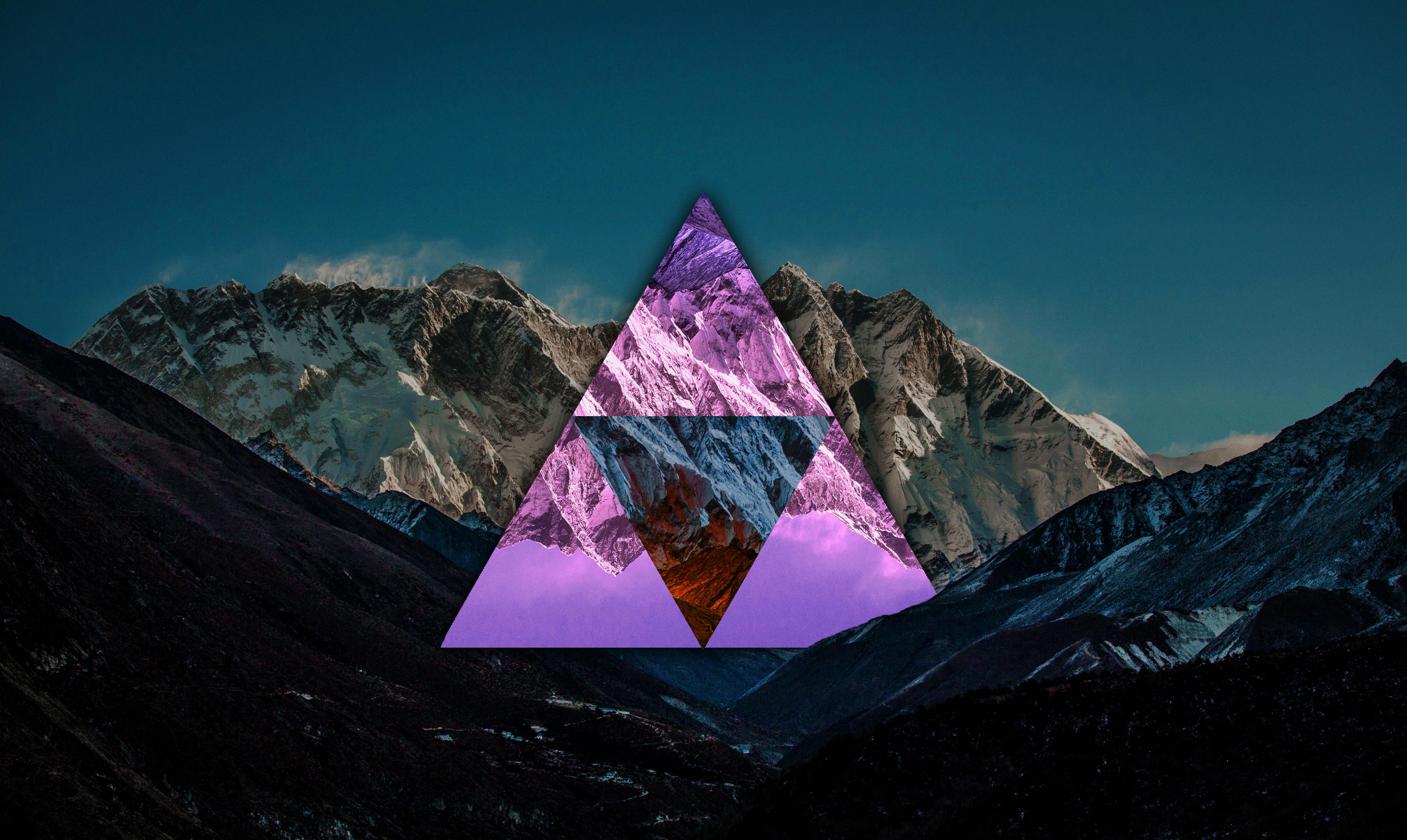 Beautiful Wallpaper Mountain Triangle - mountain-pass-triangle-minimalism-clear-sky-1145890  2018_40853.jpg