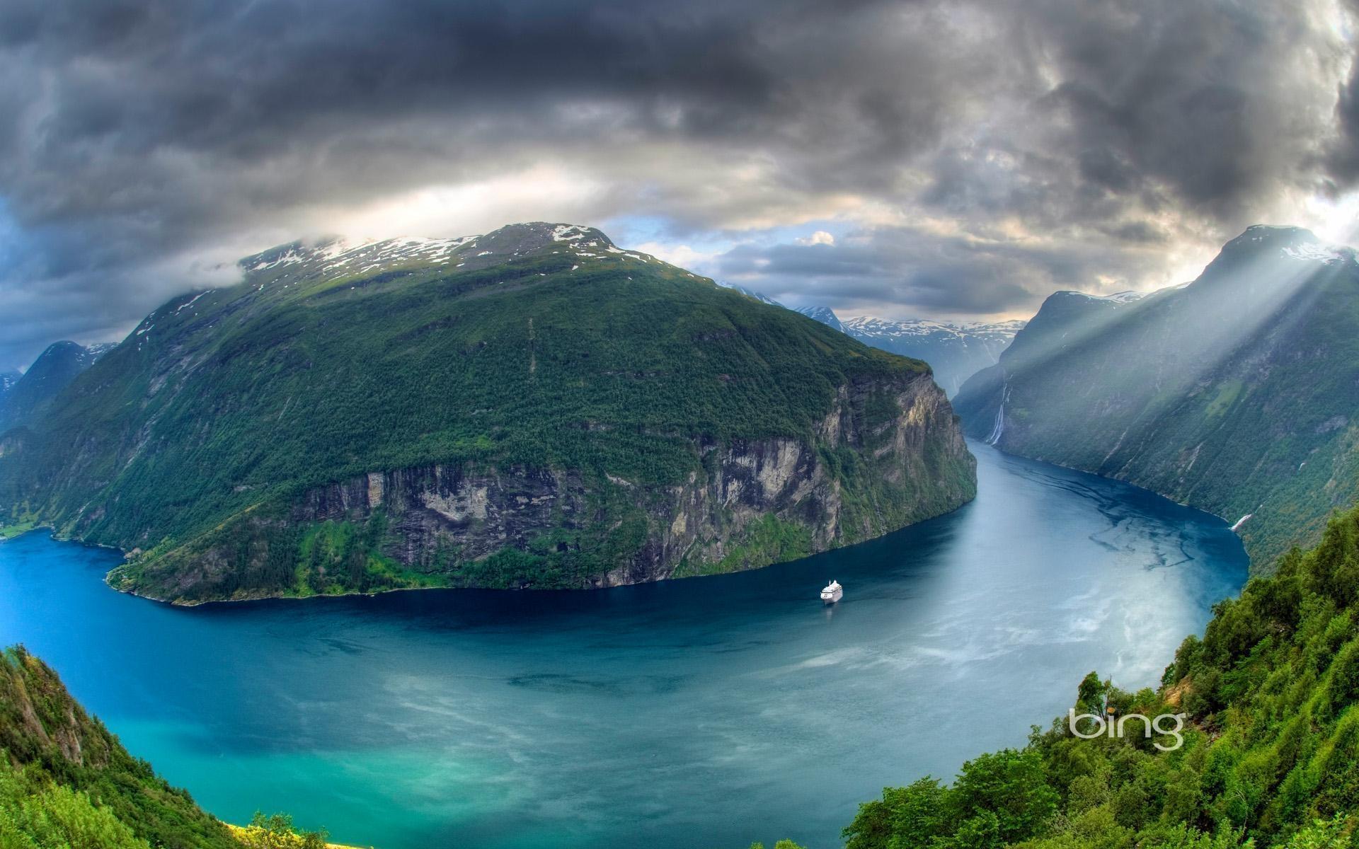 Hintergrundbilder : Berg, Fluss, bewölkt, Wolken, Licht, blaues ...